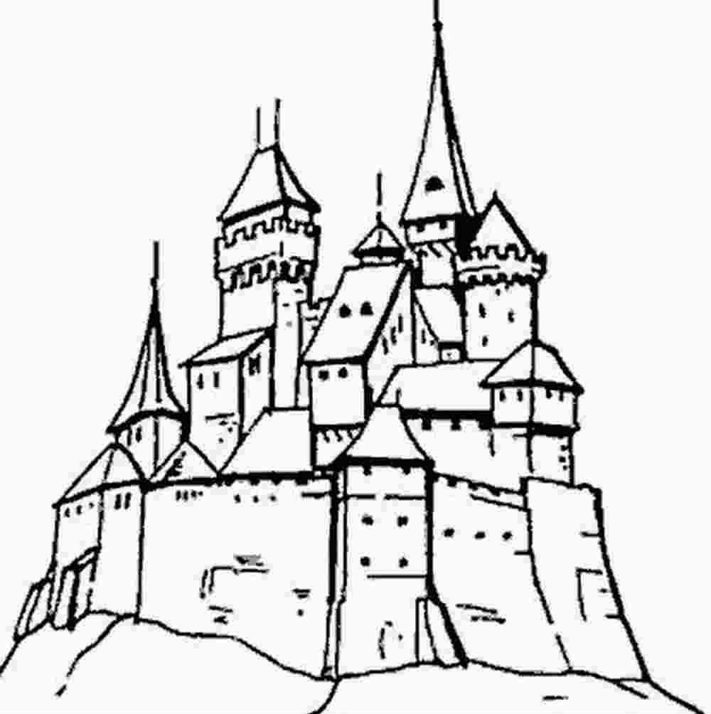 Coloriages. Coloriage Chateau Derrire Le Mur. Coloriage Le pour Image De Chateau Fort A Imprimer