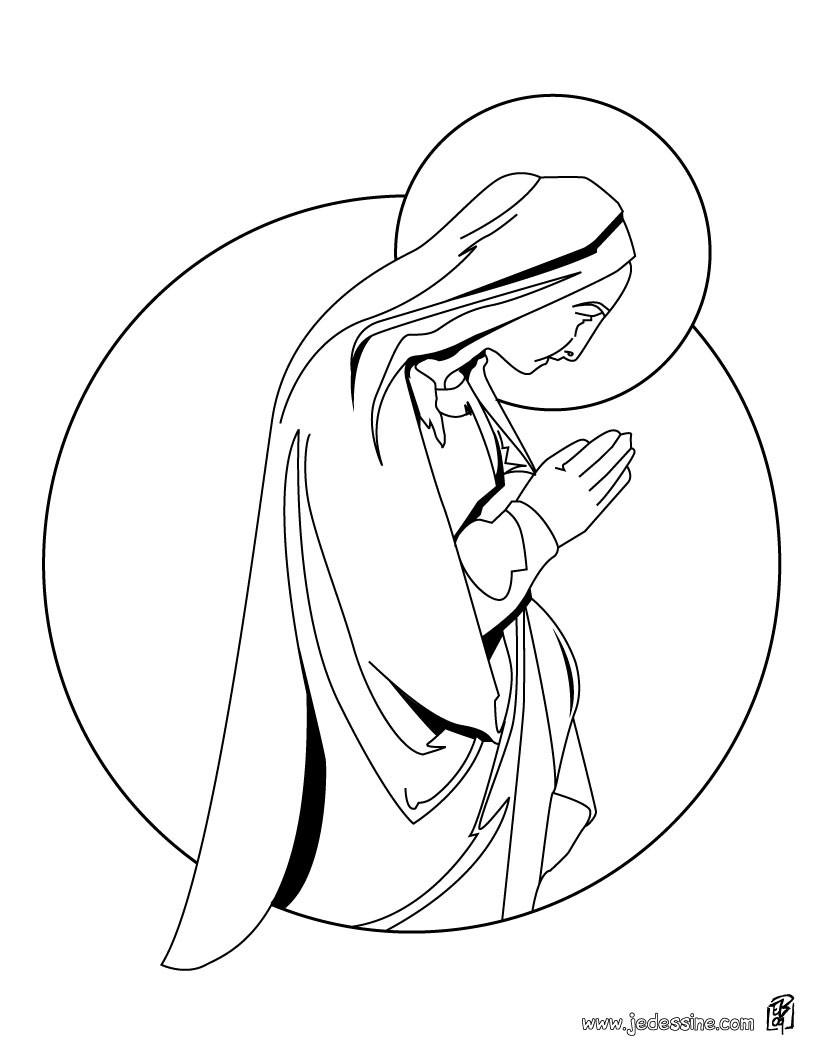 Coloriages Coloriage De L'ange Gabriel - Fr.hellokids encequiconcerne Ange A Colorier