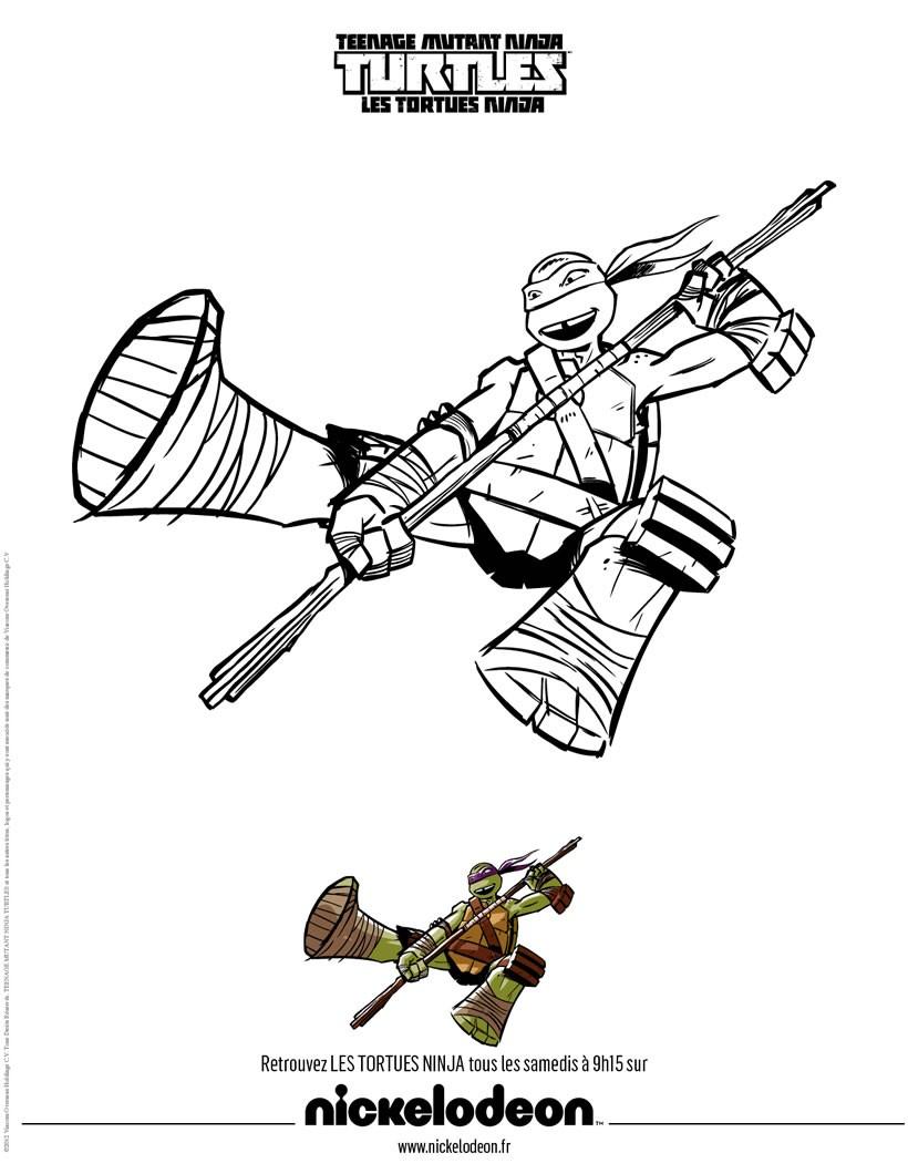 Coloriages Coloriage Donatello - Fr.hellokids à Dessin De Tortue Ninja