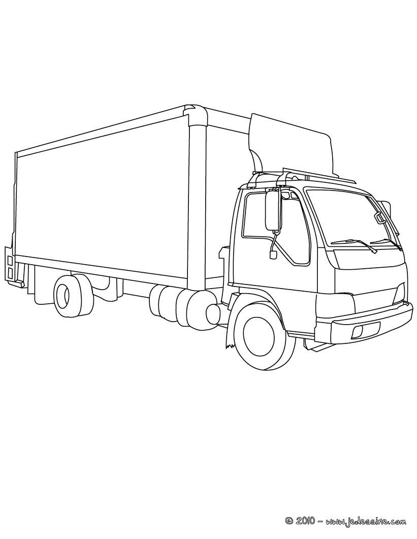 Coloriages De Camions - Coloriages - Coloriage À Imprimer serapportantà Dessin D Un Camion