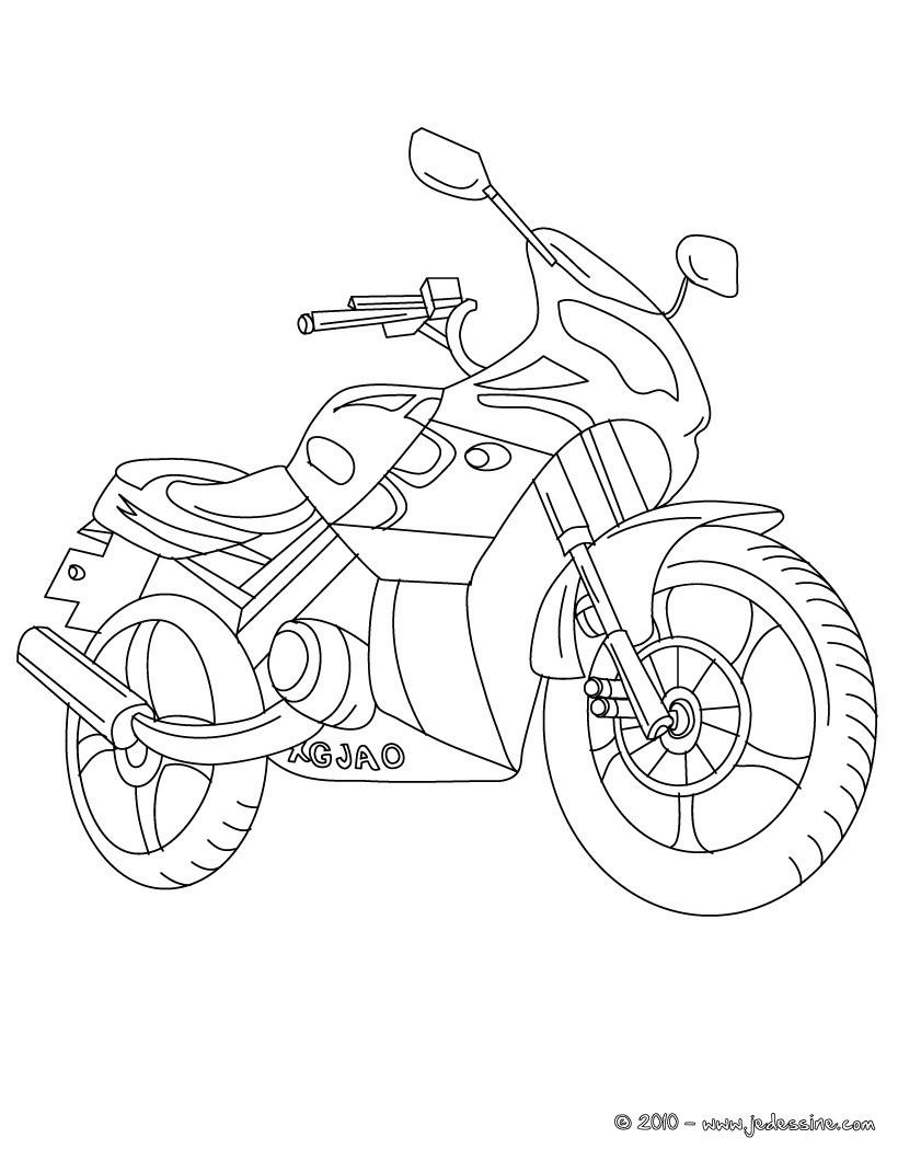 Coloriages De Motos - Coloriages - Coloriage À Imprimer intérieur Jeux Moto En Ligne Gratuit