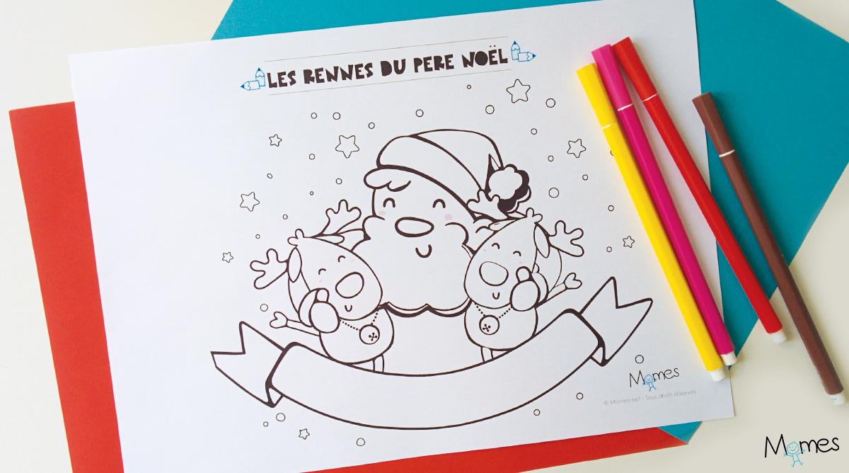 Coloriages De Noël À Imprimer - Coloriages De Fêtes - Momes encequiconcerne Coloriage De Pere Noel A Imprimer Gratuitement
