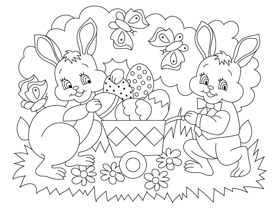Coloriages De Pâques - Images, Dessins De Pâques À Imprimer intérieur Jeux Educatif 4 Ans A Imprimer