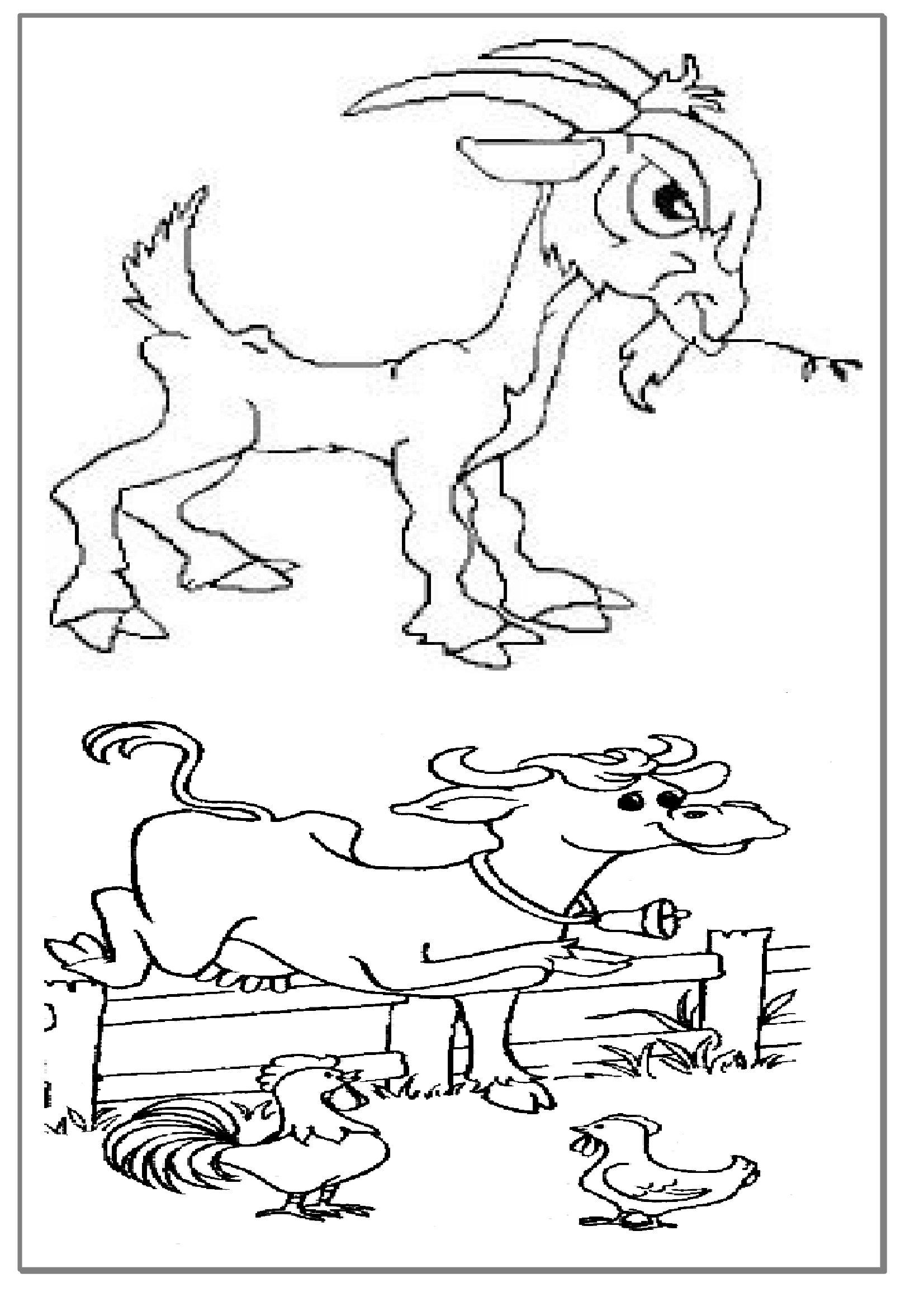 Coloriages Éducatifs,dessin Animaux De La Ferme À Colorier tout Dessin Animaux De La Ferme À Imprimer
