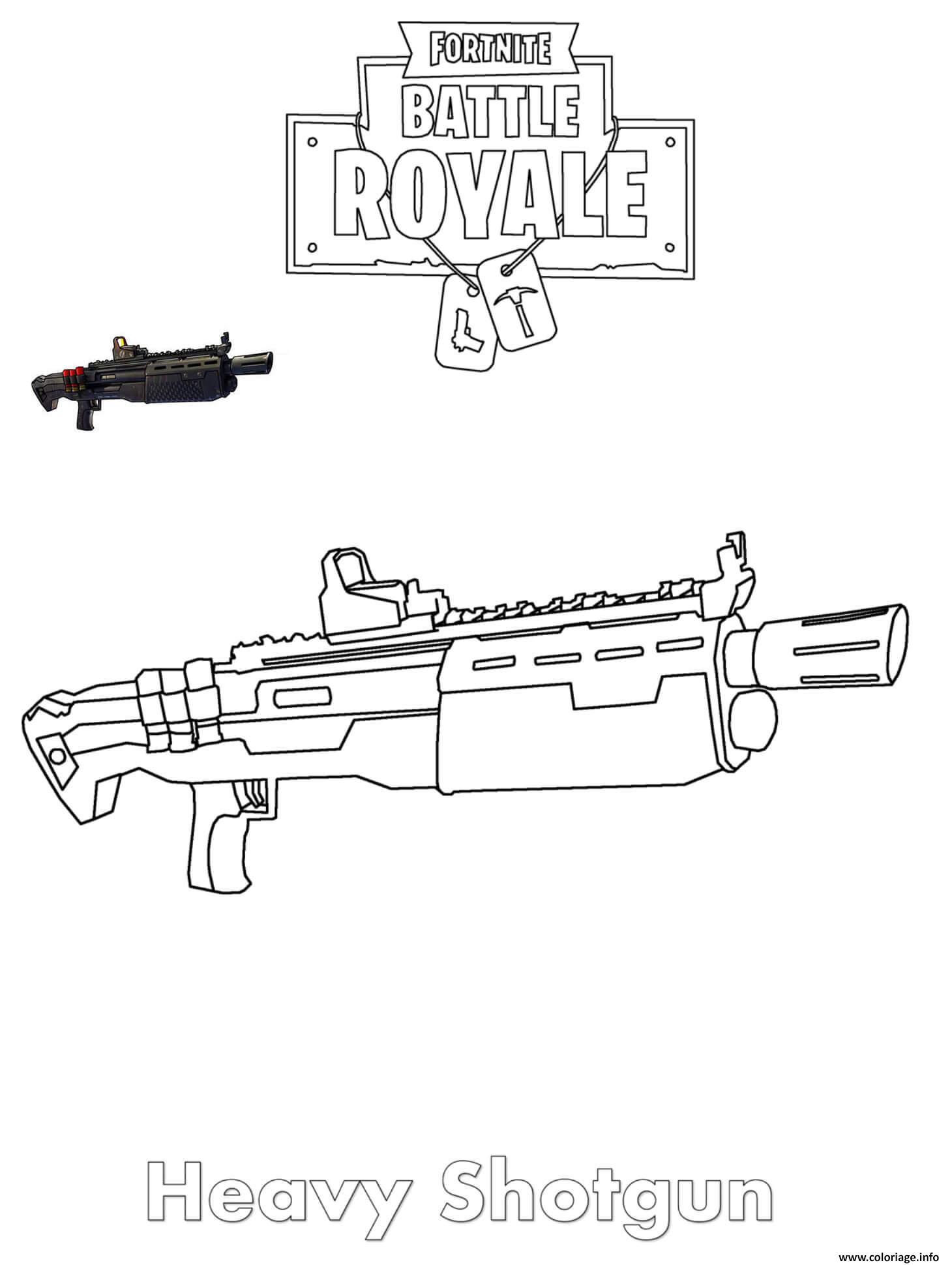 Coloriages Et Dessins Fortnite : Armes Du Jeu - Breakflip à Comment Dessiner Un Fusil