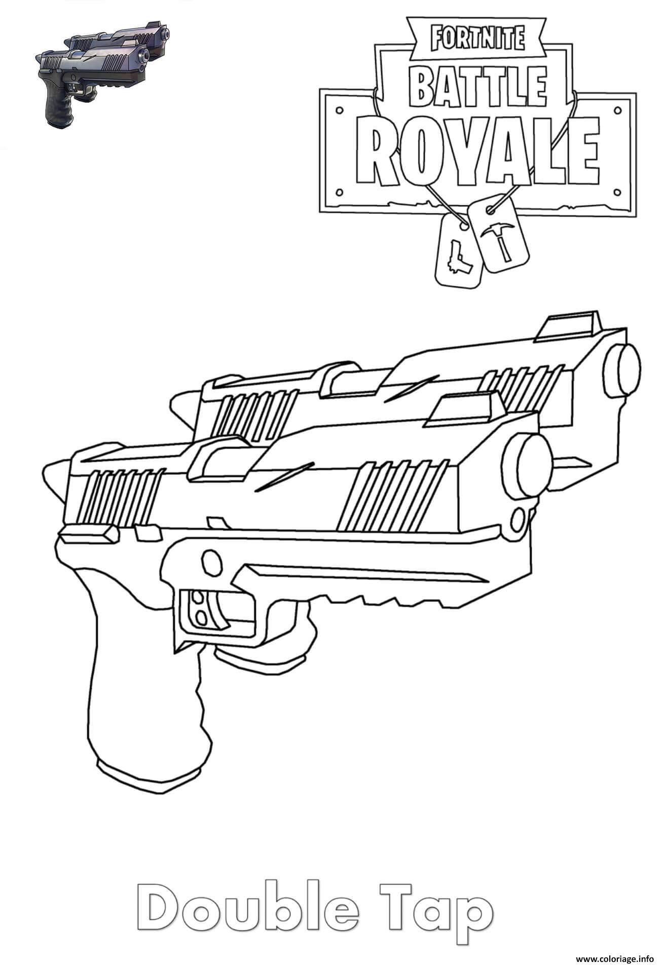 Coloriages Et Dessins Fortnite : Armes Du Jeu - Breakflip avec Comment Dessiner Un Fusil