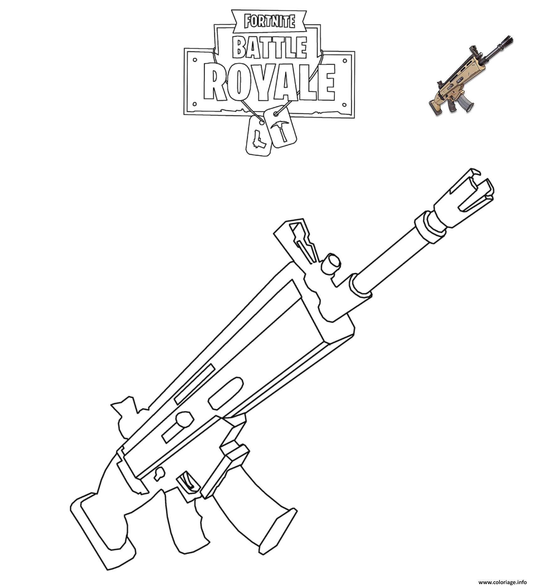 Coloriages Et Dessins Fortnite : Armes Du Jeu - Breakflip concernant Comment Dessiner Un Fusil