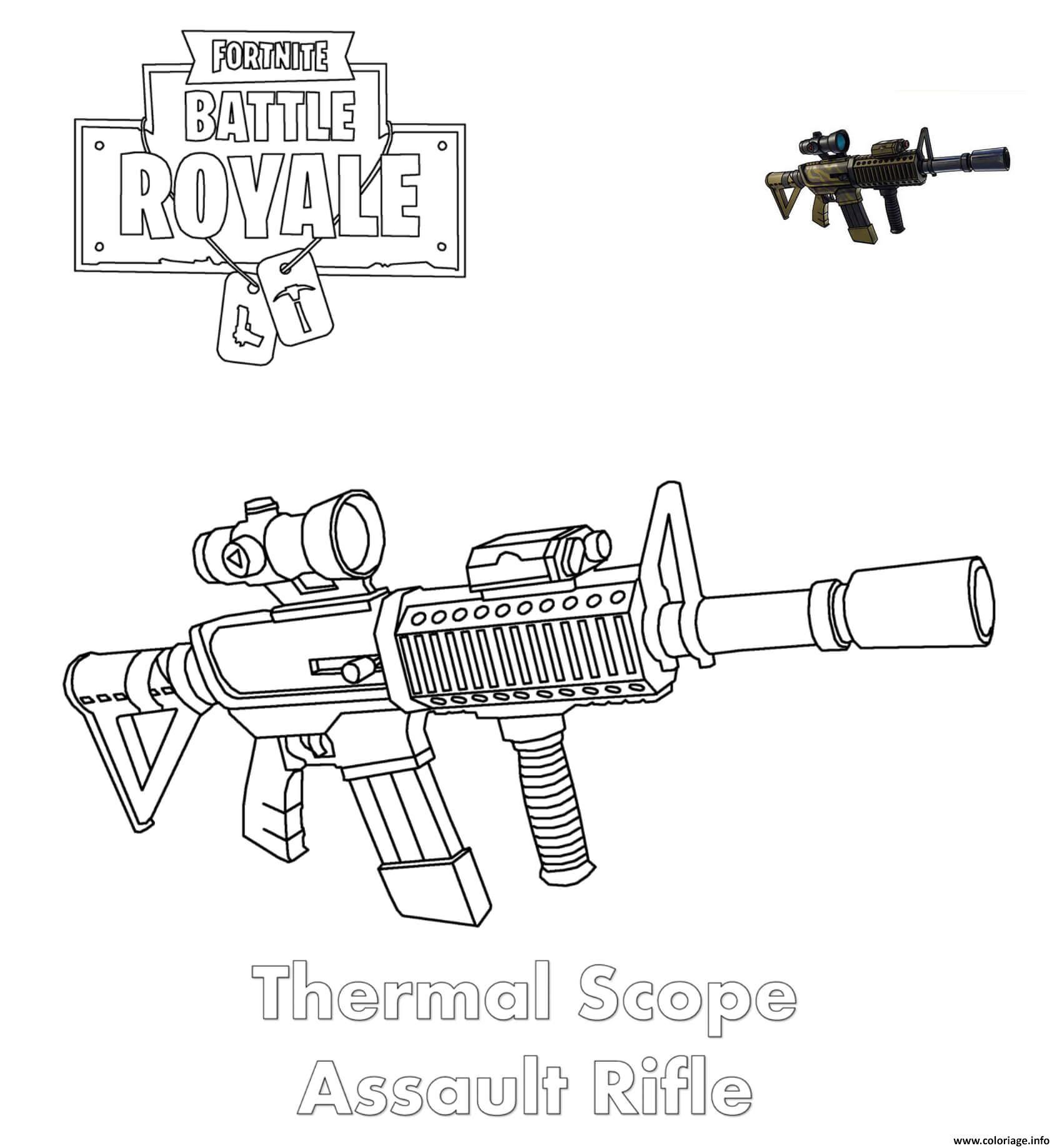 Coloriages Et Dessins Fortnite : Armes Du Jeu - Breakflip pour Comment Dessiner Un Fusil