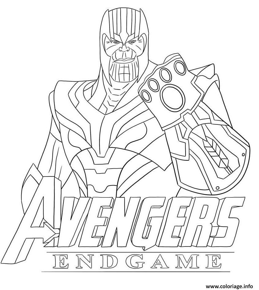 Coloriages Et Dessins Fortnite : Thanos Et Avengers concernant Lapin Crétin À Colorier