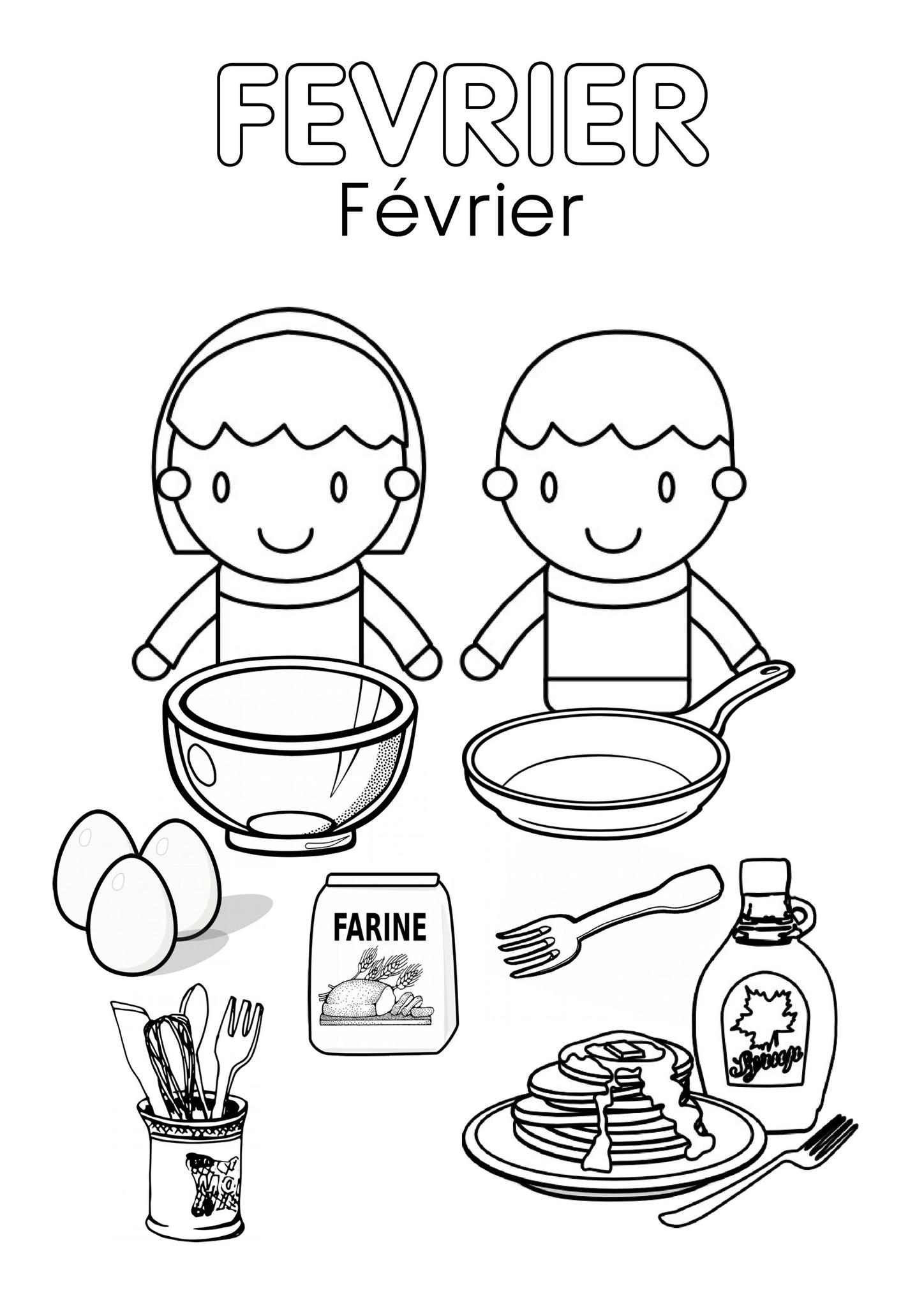 Coloriages Février - Assistante Maternelle Argenteuil - Orgemont encequiconcerne Mois À Colorier Maternelle
