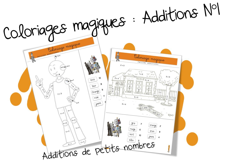 Coloriages Magiques Bdg : Les Additions De Petits Nombres destiné Coloriage Chiffres 1 À 10