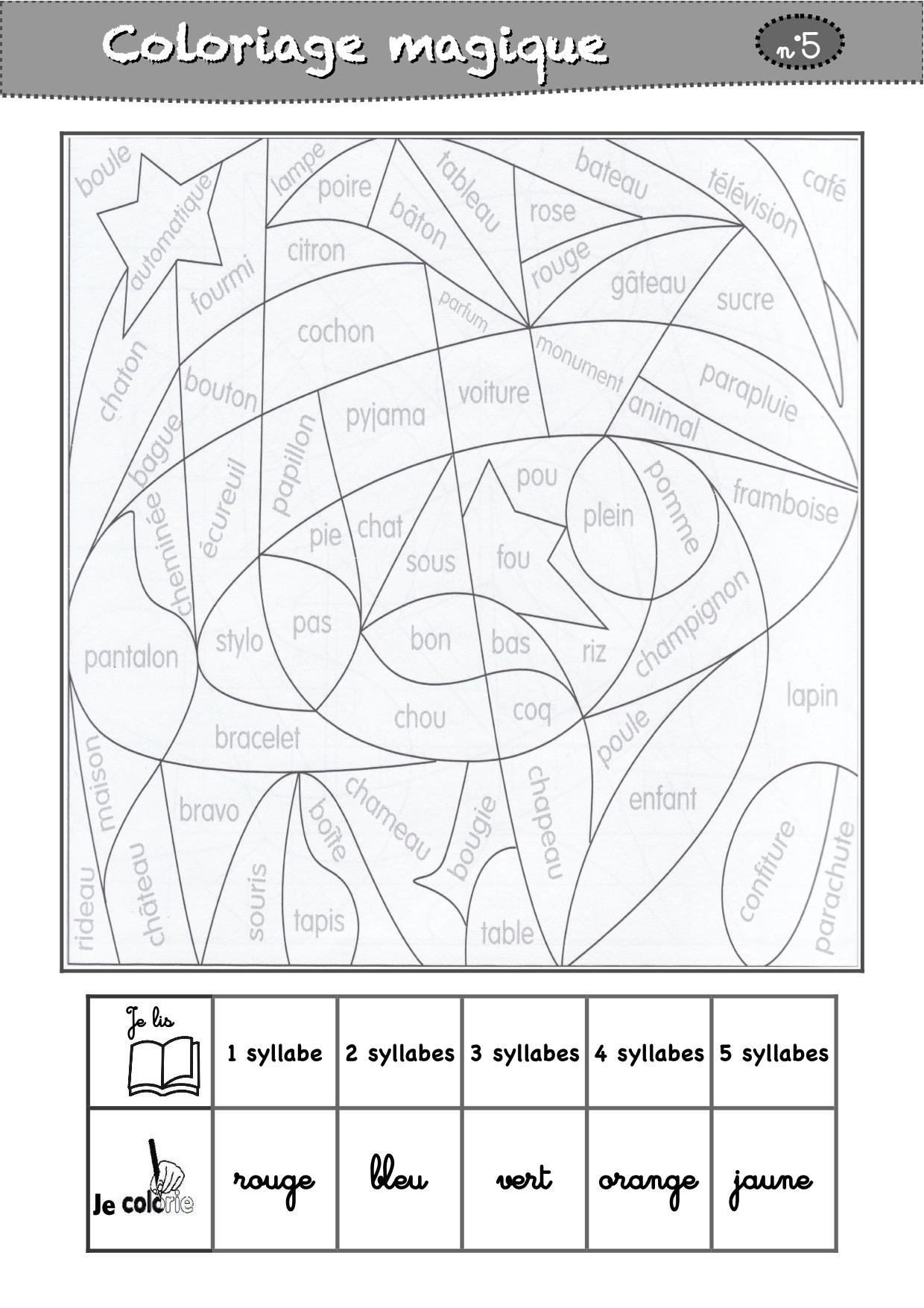 Coloriages Magiques Cp - La Classe De Luccia ! pour Coloriage Magique Français Cp