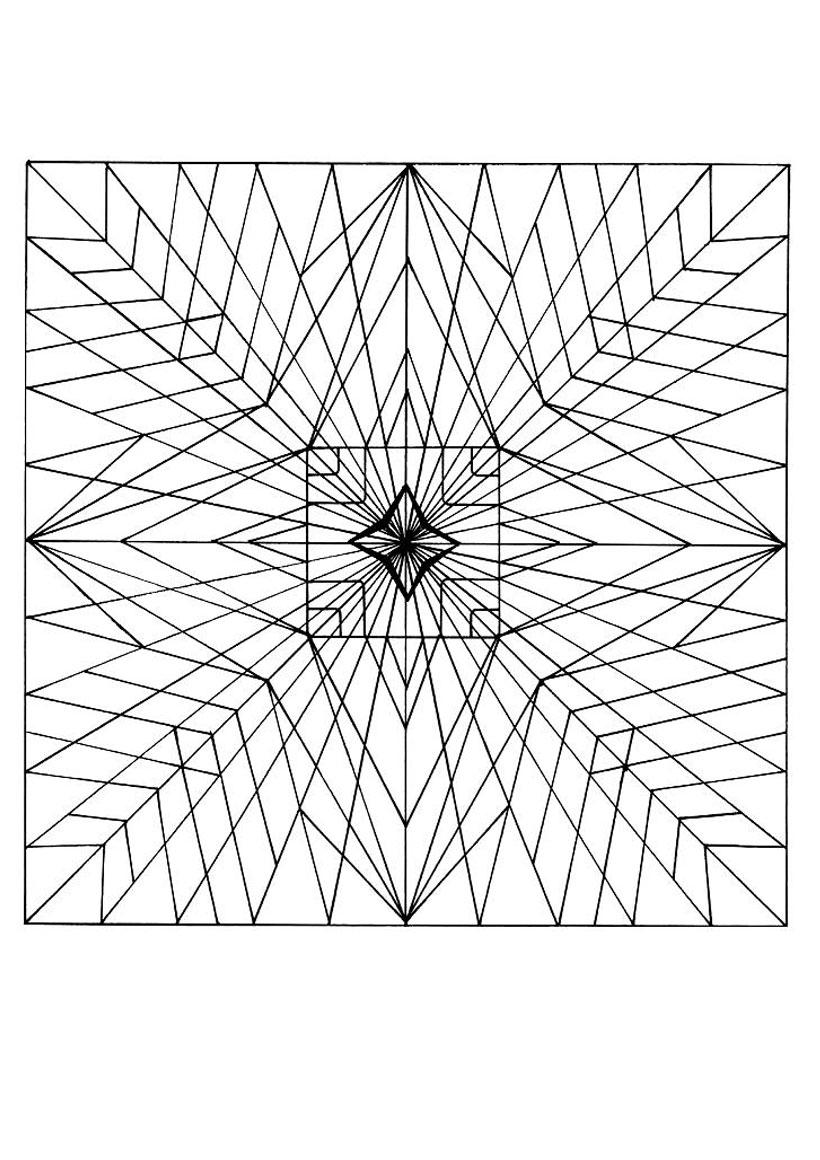 Coloriages Mandala - Fr.hellokids dedans Jeux De Coloriage De Rosace