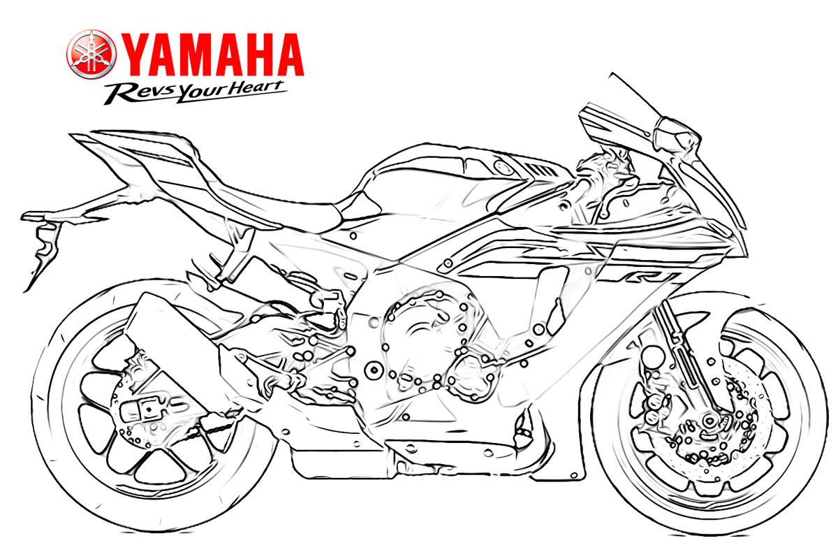 Coloriages Motos Yamaha pour Faire Coloriage Gratuit Sur Ordinateur