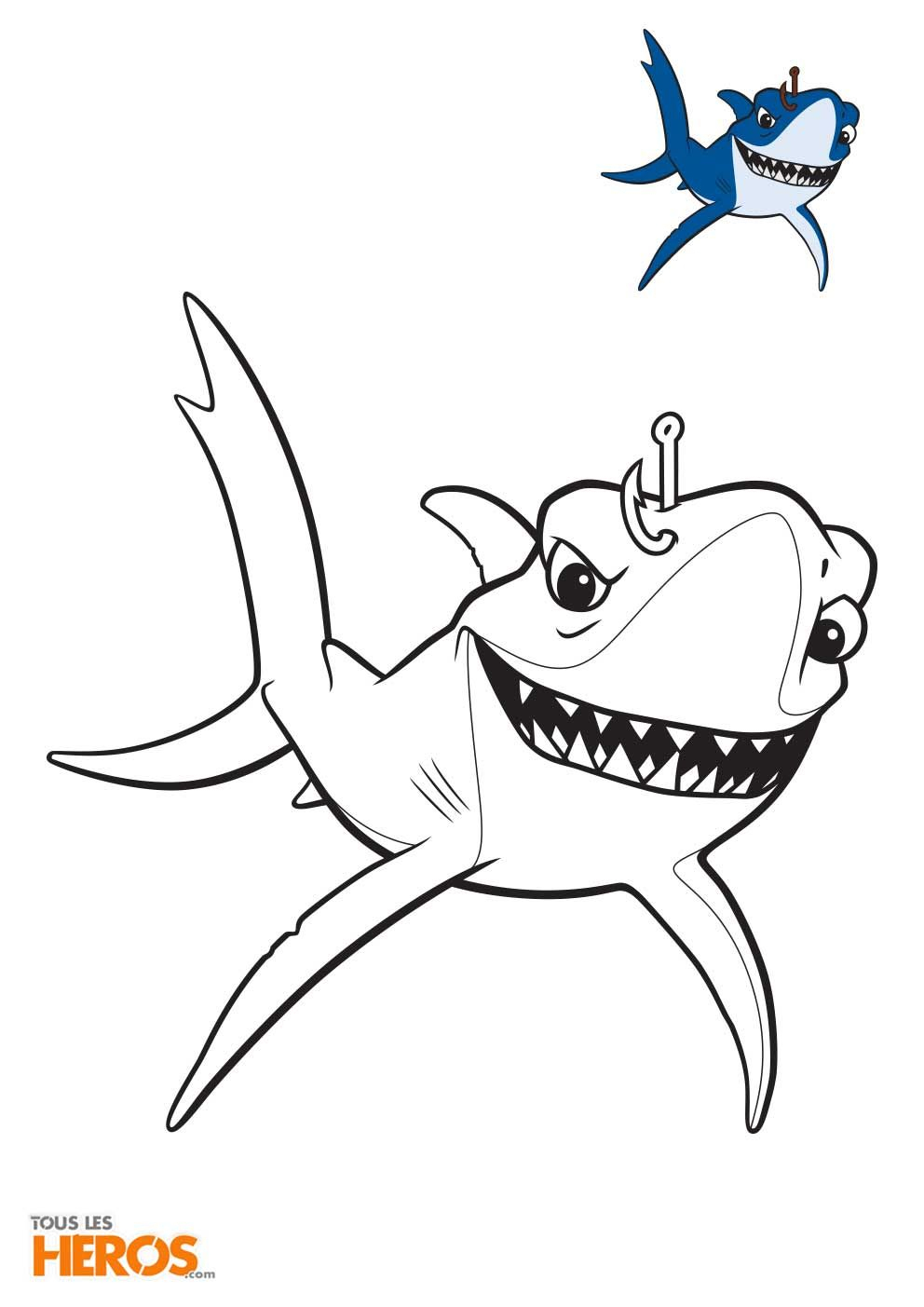 Coloriages Némo Et Dory À Imprimer Gratuitement Sur Notre encequiconcerne Dessin De Requin À Imprimer