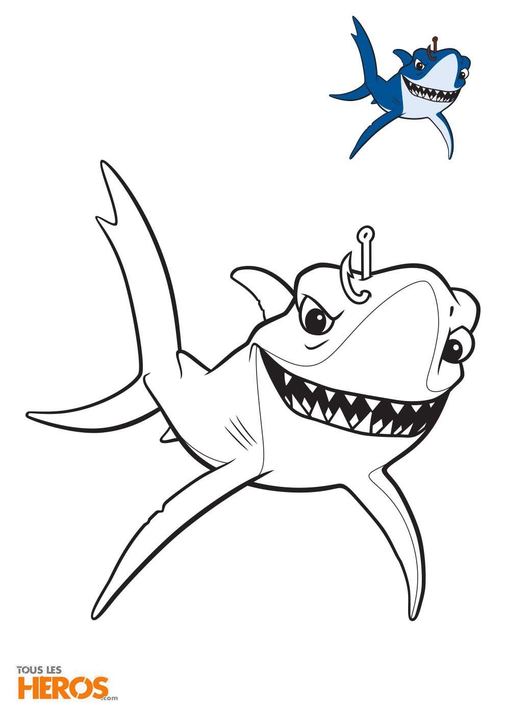 Coloriages Némo Et Dory À Imprimer Gratuitement Sur Notre tout Coloriage Requin À Imprimer