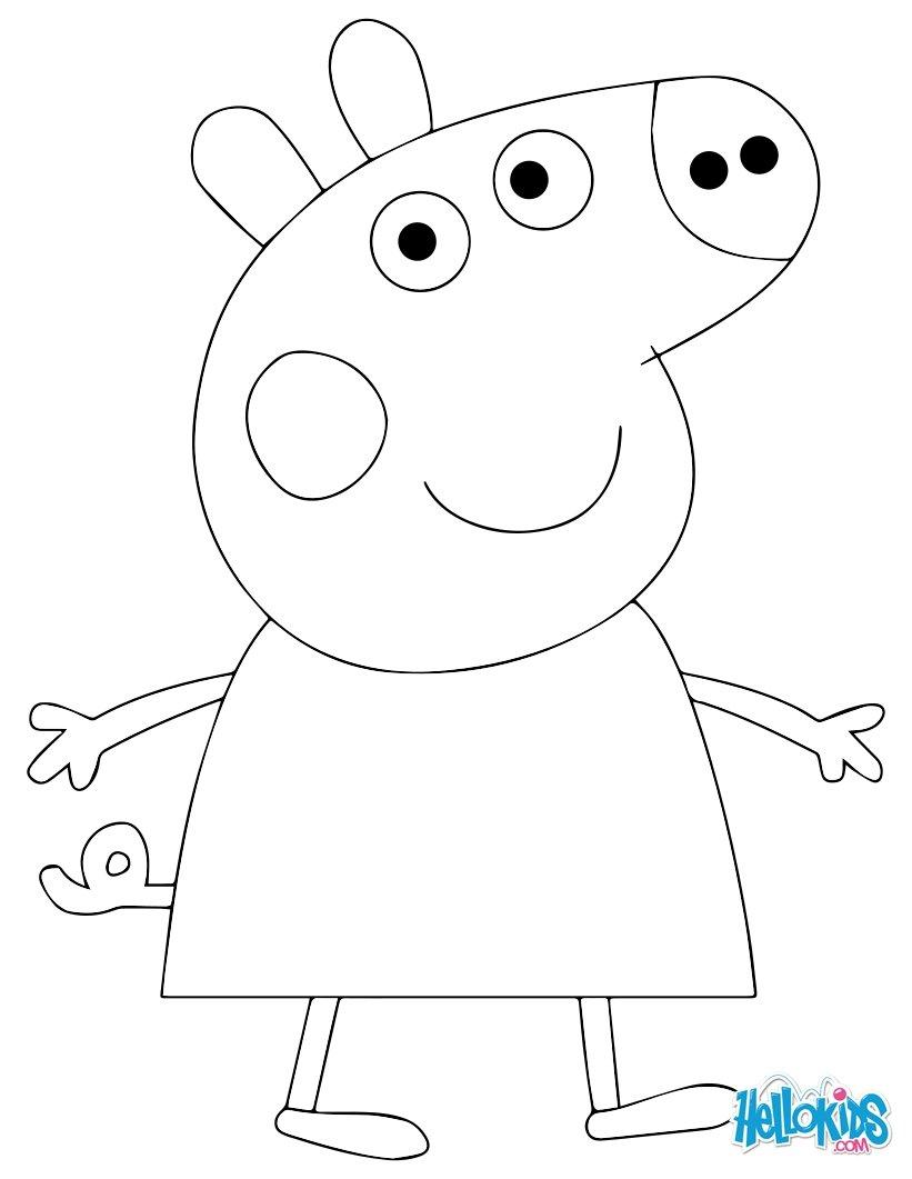 Coloriages Peppa Pig - Fr.hellokids dedans Peppa Pig A Colorier