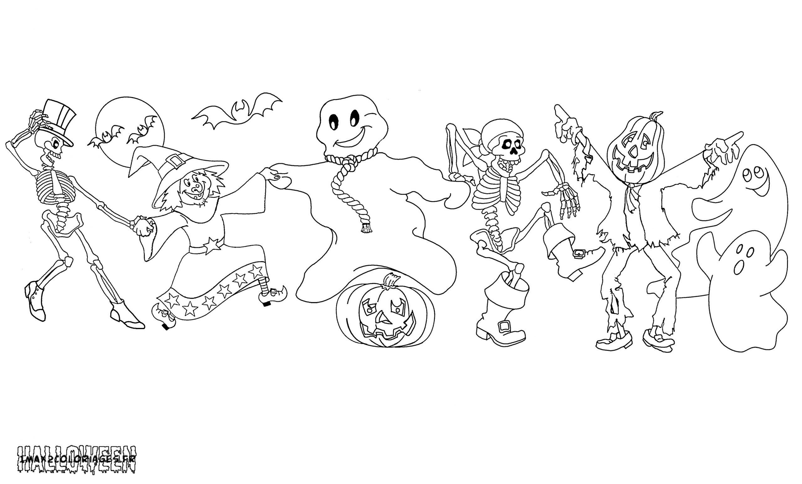 Coloriages Personnages Halloween A Imprimer serapportantà Personnage A Colorier