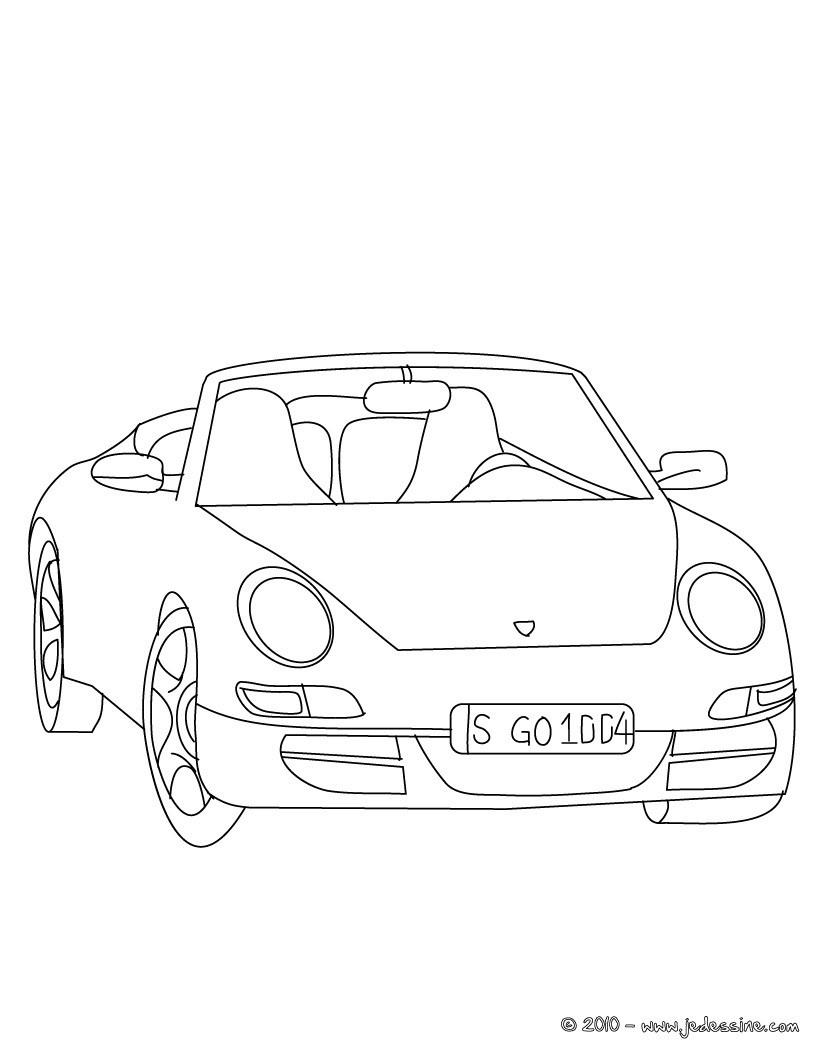Coloriages Porsche Carrera À Colorier - Fr.hellokids destiné Apprendre A Dessiner Une Voiture