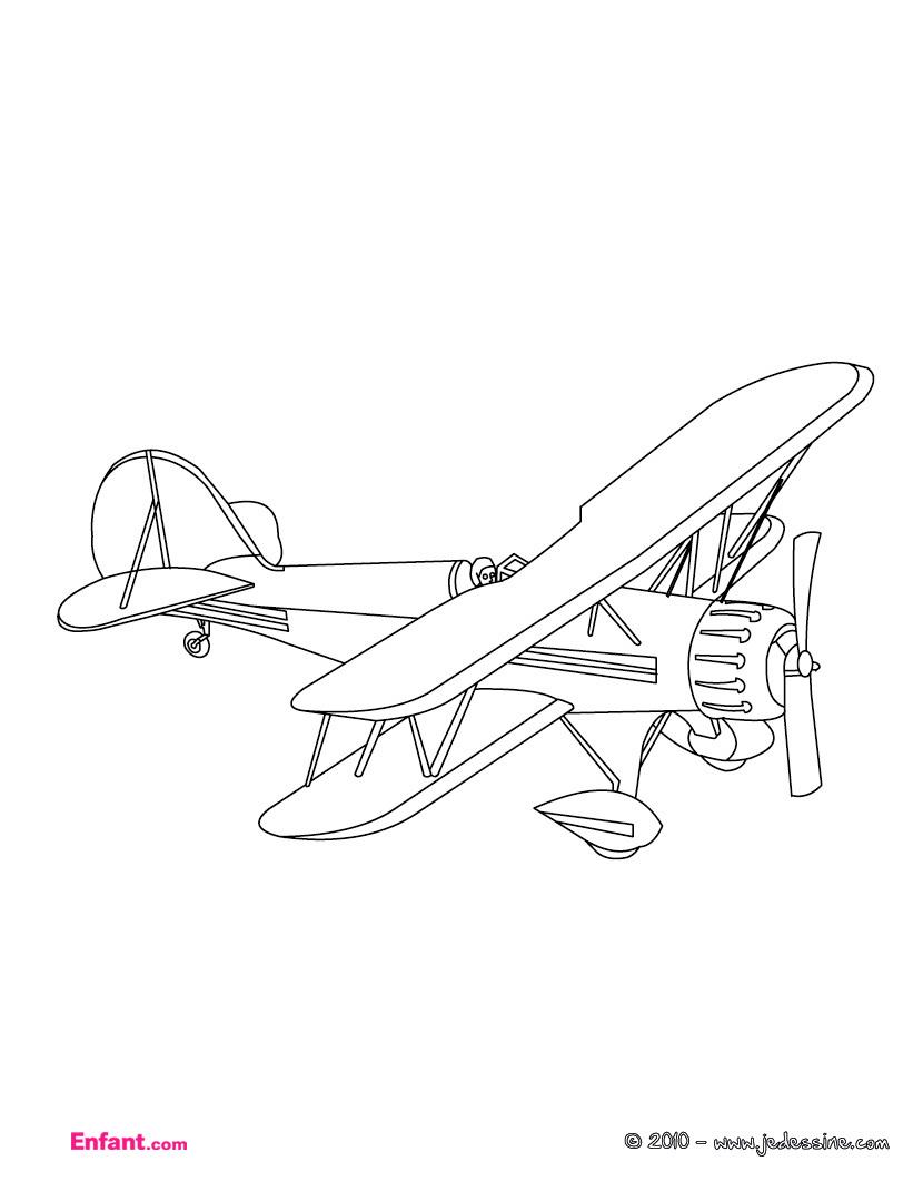 Coloriages Pour Garçon: L'avion avec Jeu Pour Garcon De 6 Ans Gratuit