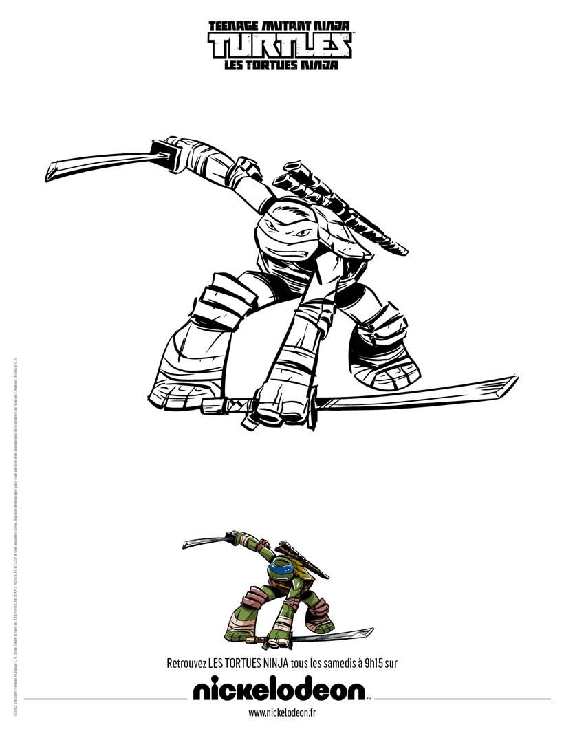Coloriages Raphael, La Tortue Ninja - Fr.hellokids encequiconcerne Dessin De Tortue Ninja