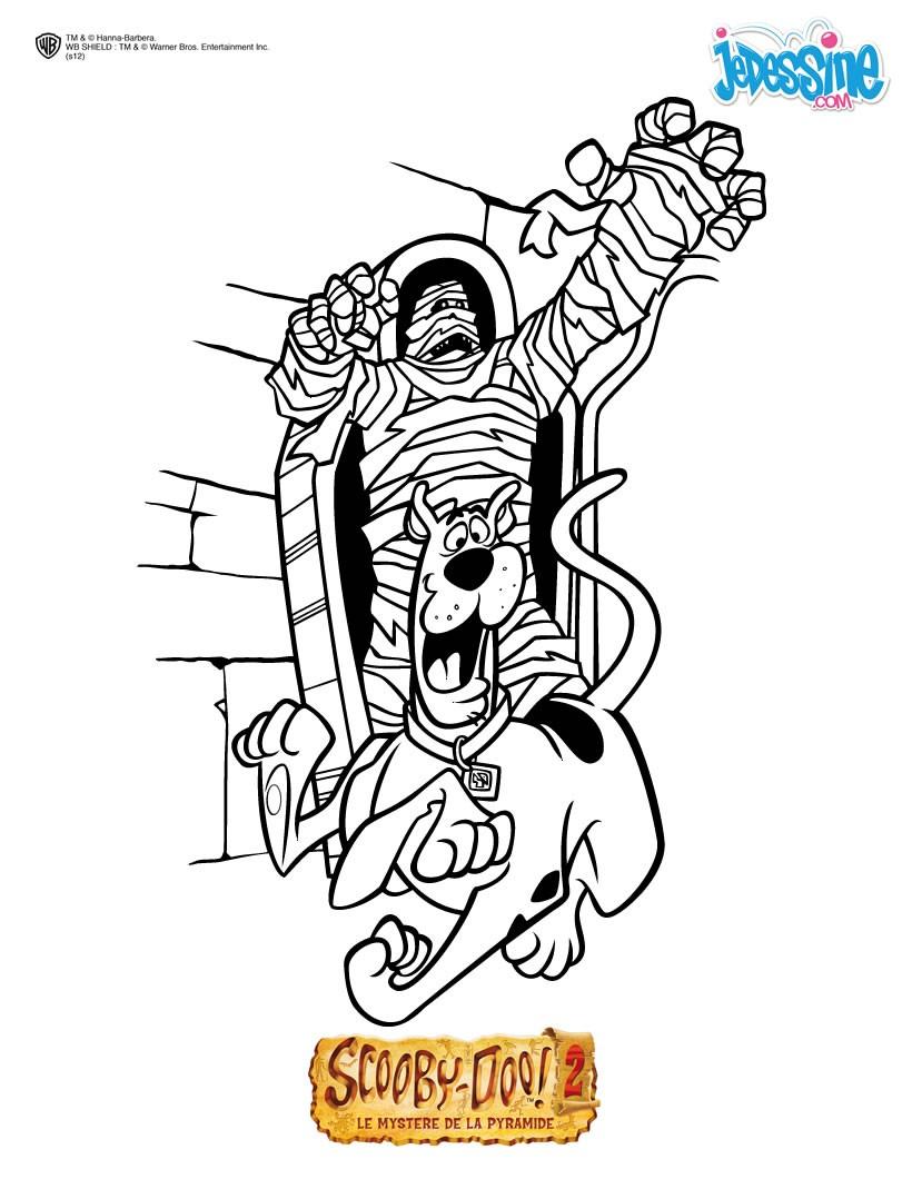 Coloriages Scooby-Doo Et Sammy À Imprimer - Fr.hellokids destiné Scooby Doo À Colorier