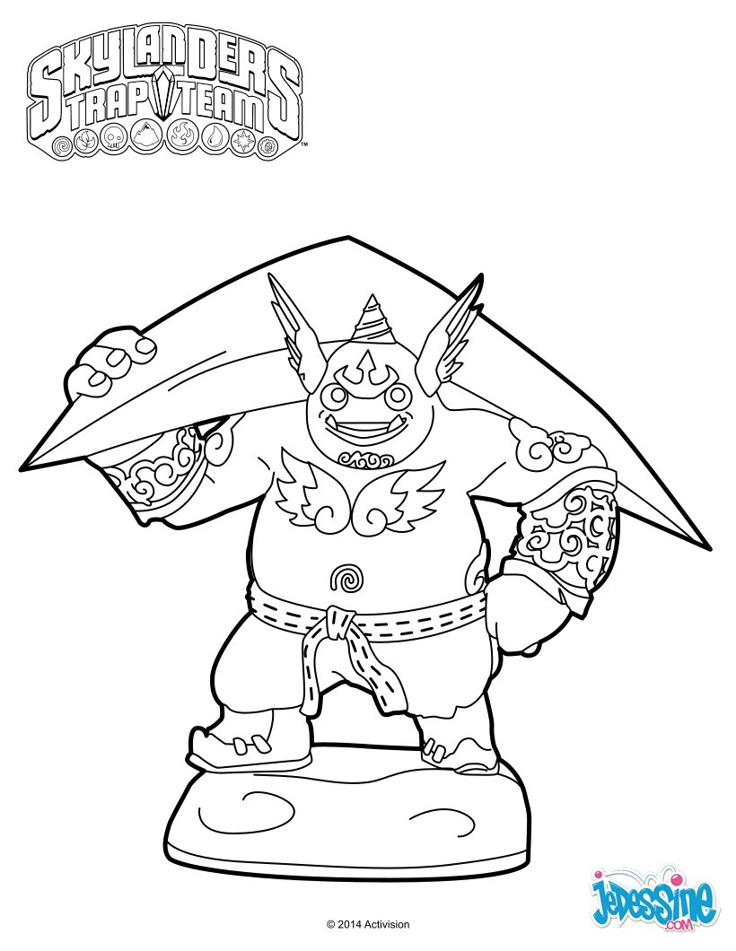 Coloriages Skylanders Trap Team - Coloriages - Coloriage À concernant Dessin De Skylanders