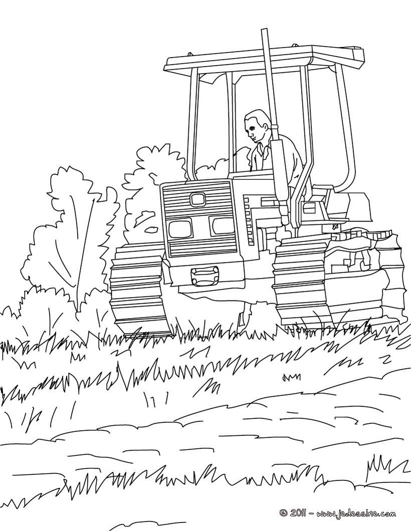 Coloriages Tracteur À Colorier - Fr.hellokids à Tracteur À Colorier