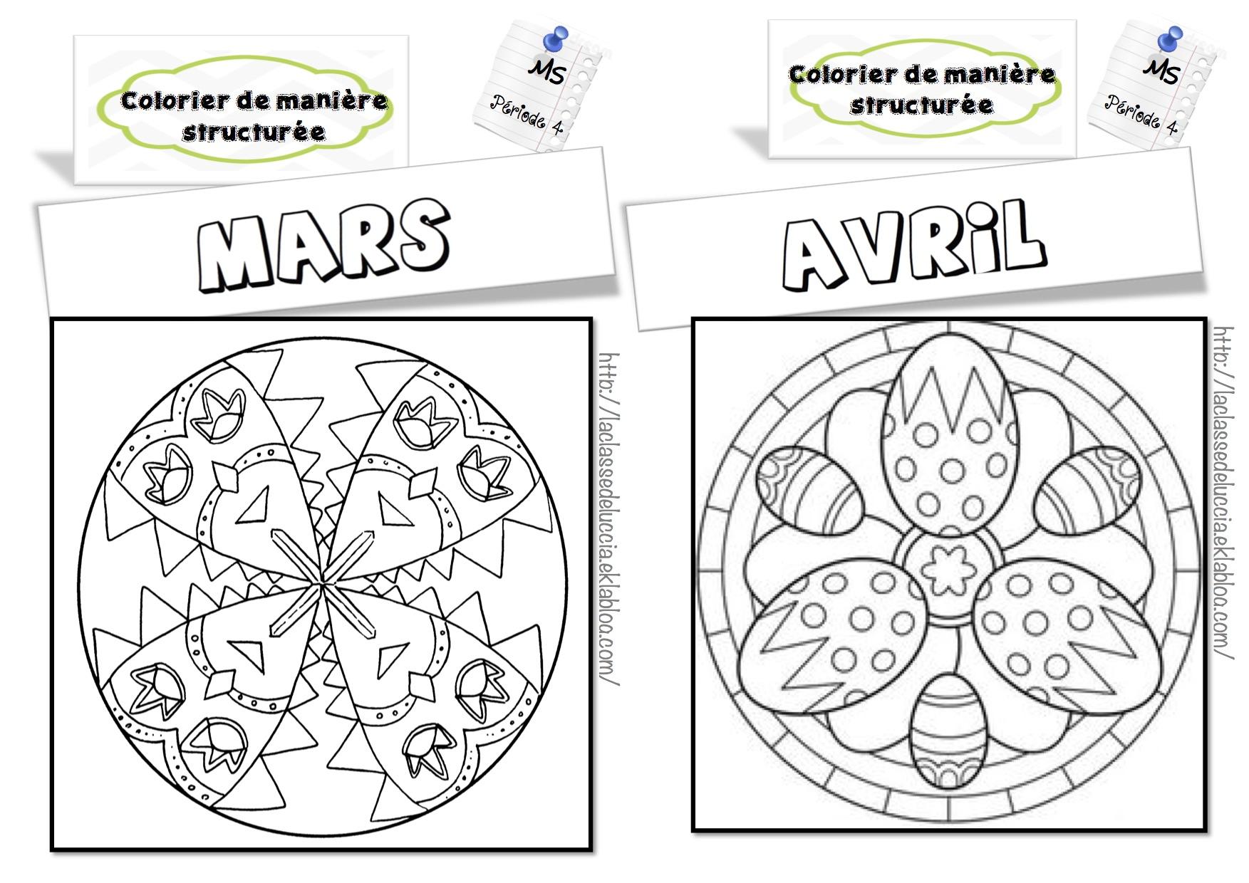 Colorier De Manière Structurée Ms - La Classe De Luccia ! à Coloriage Codé Moyenne Section