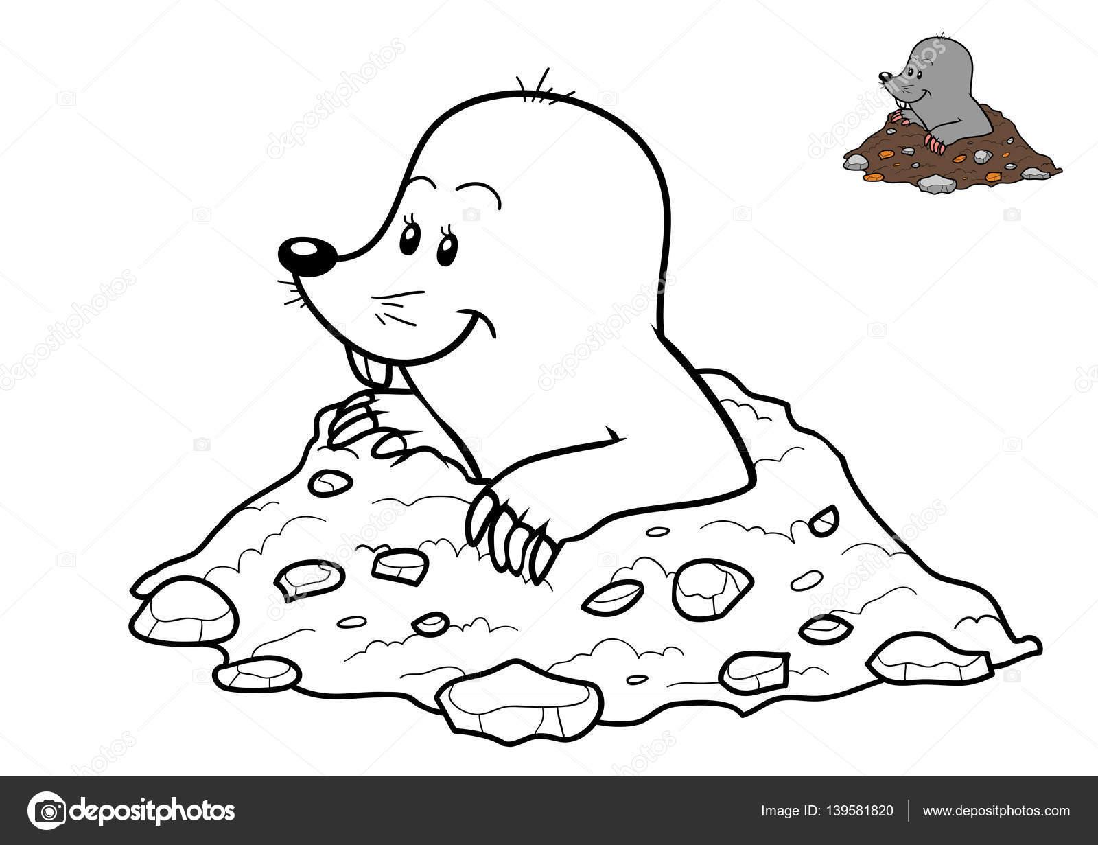 Coloring : 46 Mole Animal Coloring Pages Picture Ideas Mole concernant Dessin De Taupe
