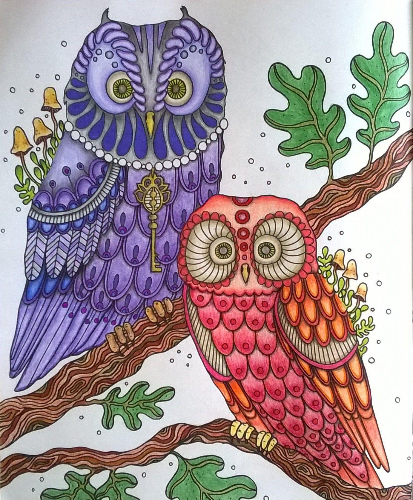 Coloring Book: Dagdrömmar, Pencils; Faber Castell encequiconcerne Hibou Dessin Couleur