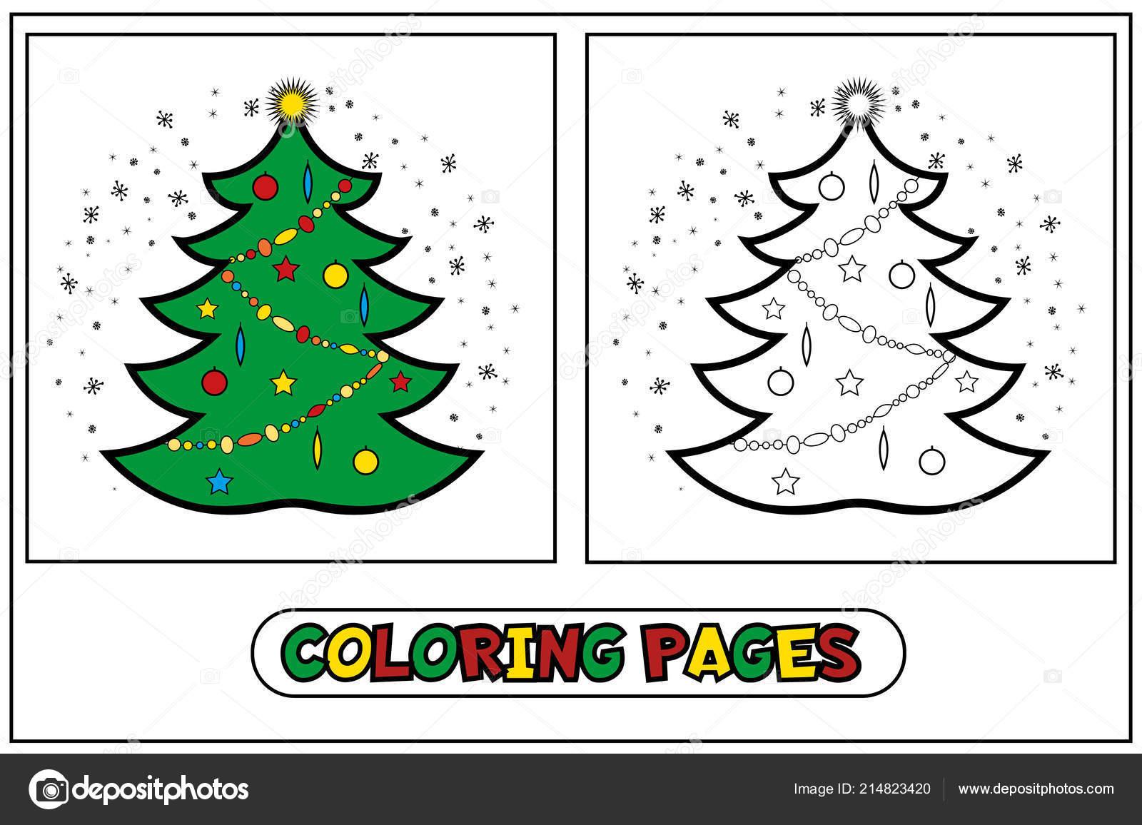 Coloring Christmas Tree — Stock Vector © Danilina.olga.gmail concernant Rebus Noel