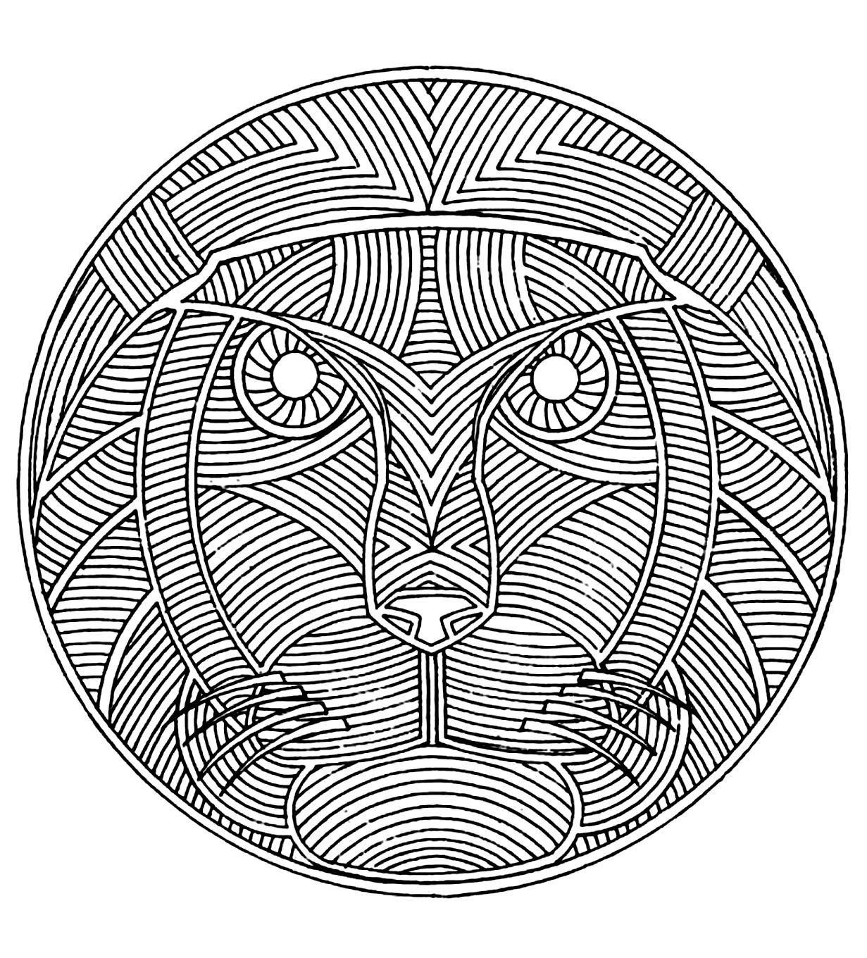Coloring Page Coloring-Adult-Africa-Mandala. African Mandala à Mandala À Colorier Adulte