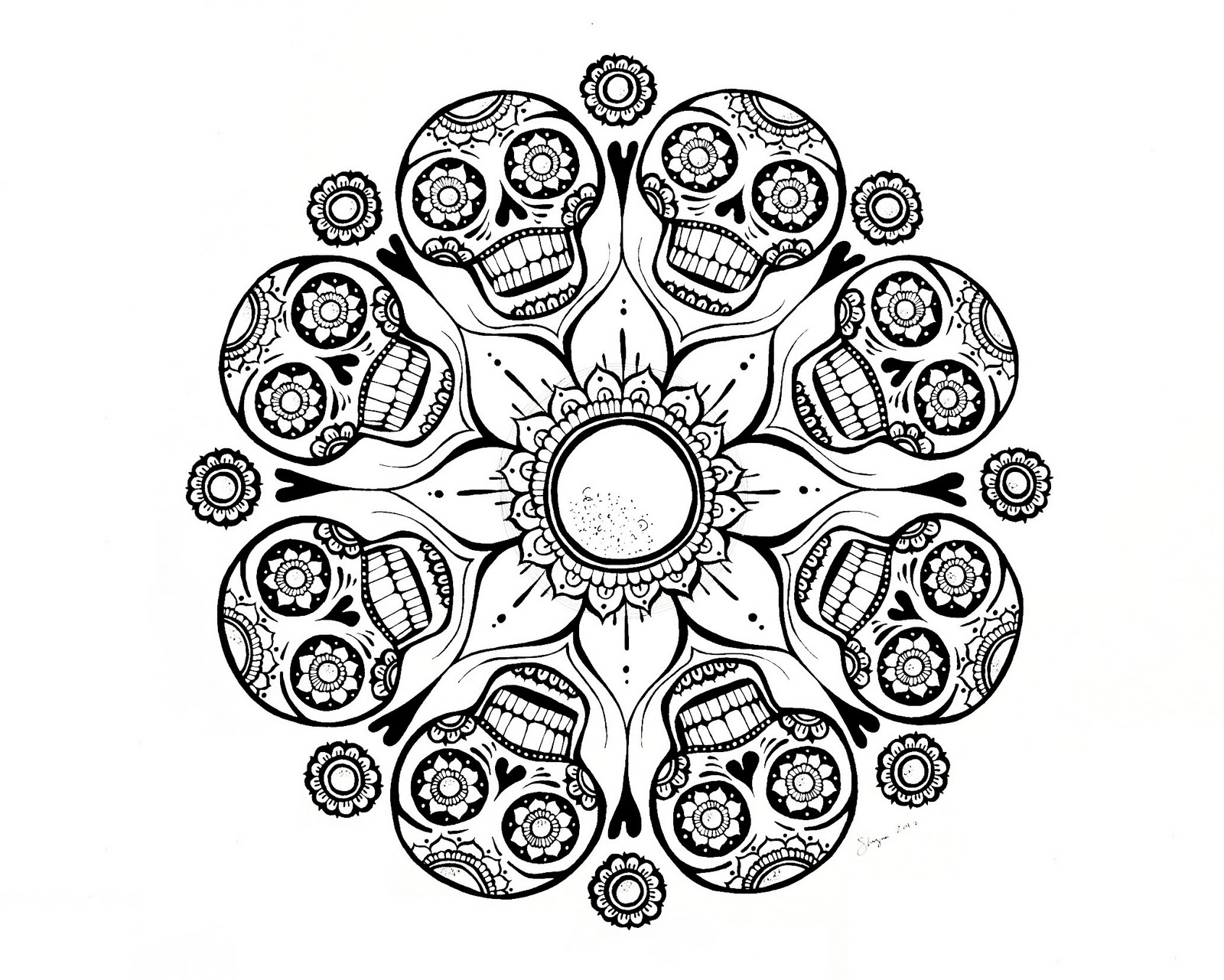 Coloring Pages : Best Coloring Free Mandala For Adults At dedans Mandala Fée