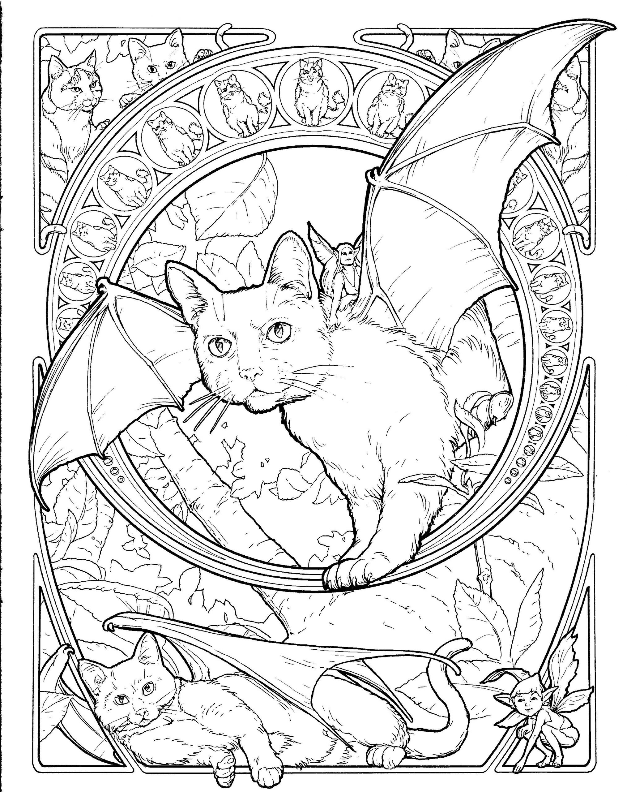 Coloring Pages : Coloring Fantasy Books For Adultsffee avec Mandala Fée