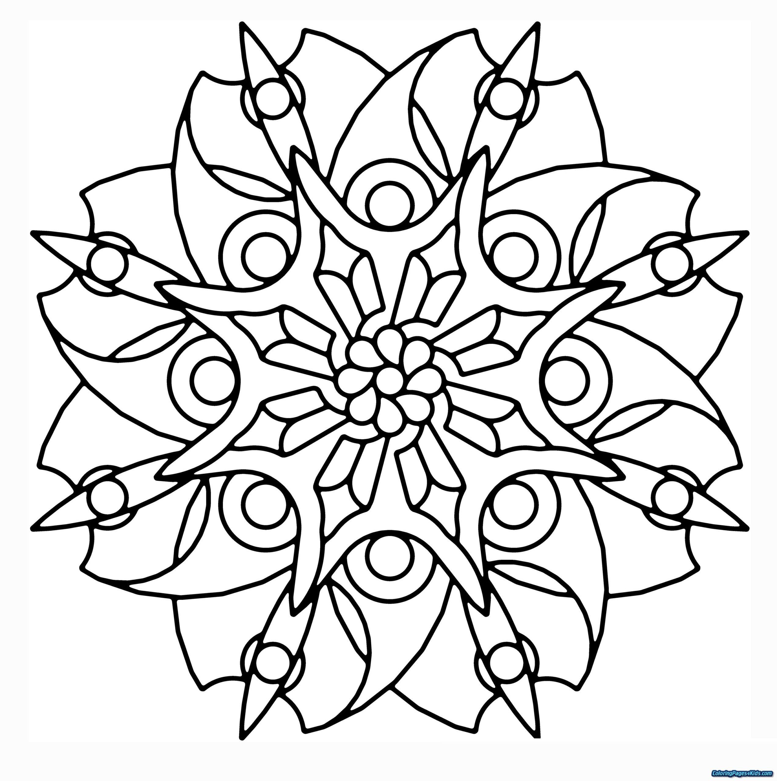 Coloring Pages : Coloring Mandala Drawingable Flower Simple à Mandala Fée