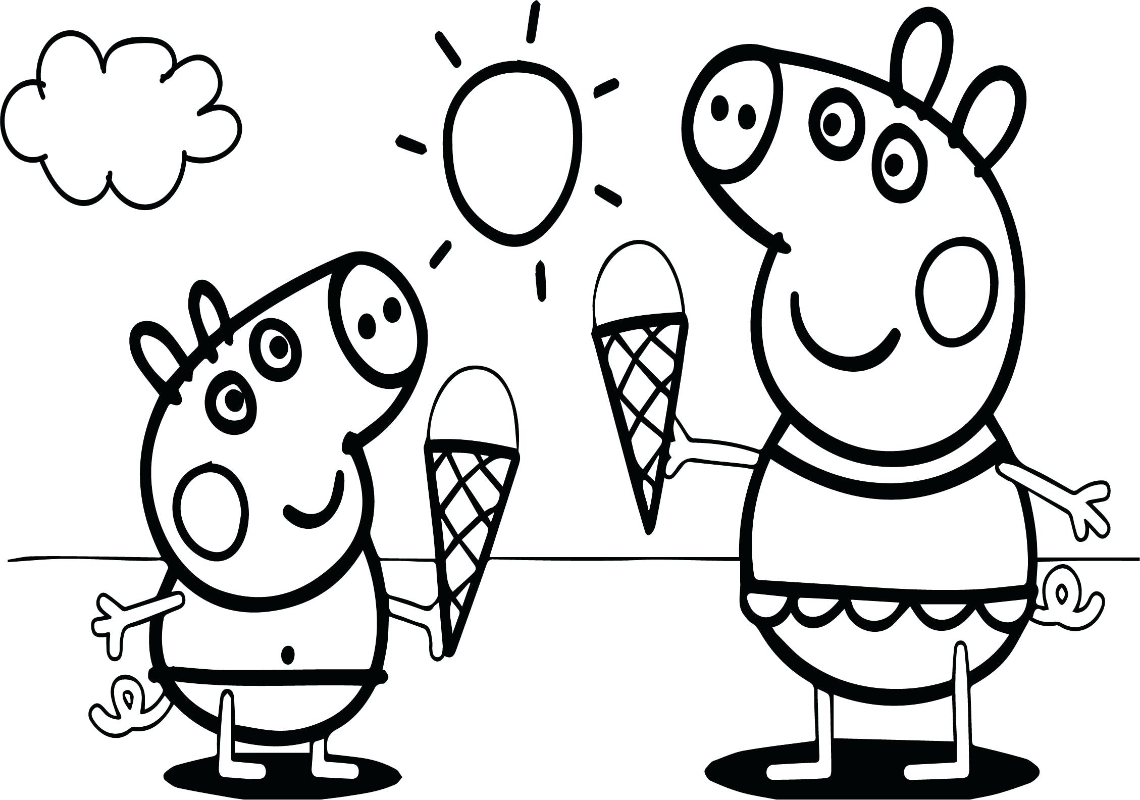 Coloring Pages : Coloring Pigoring Photo In Mud Cute Peppa à Peppa Pig A Colorier