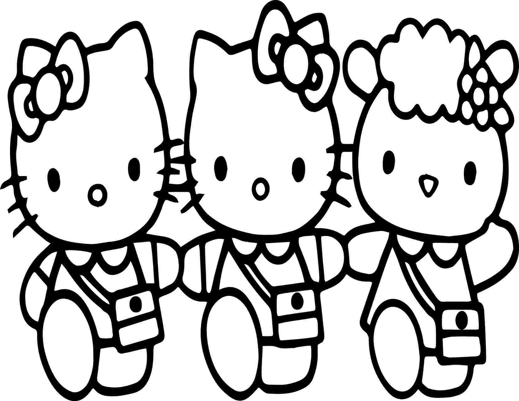 Coloring Pages : Free Coloring Of Hello Kitty And Friends tout Hello Kitty À Dessiner