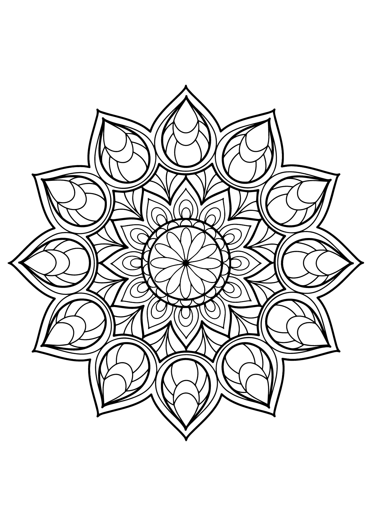 Coloring Pages : Mandala From Free Coloring Books For Adults pour Mandala Fée