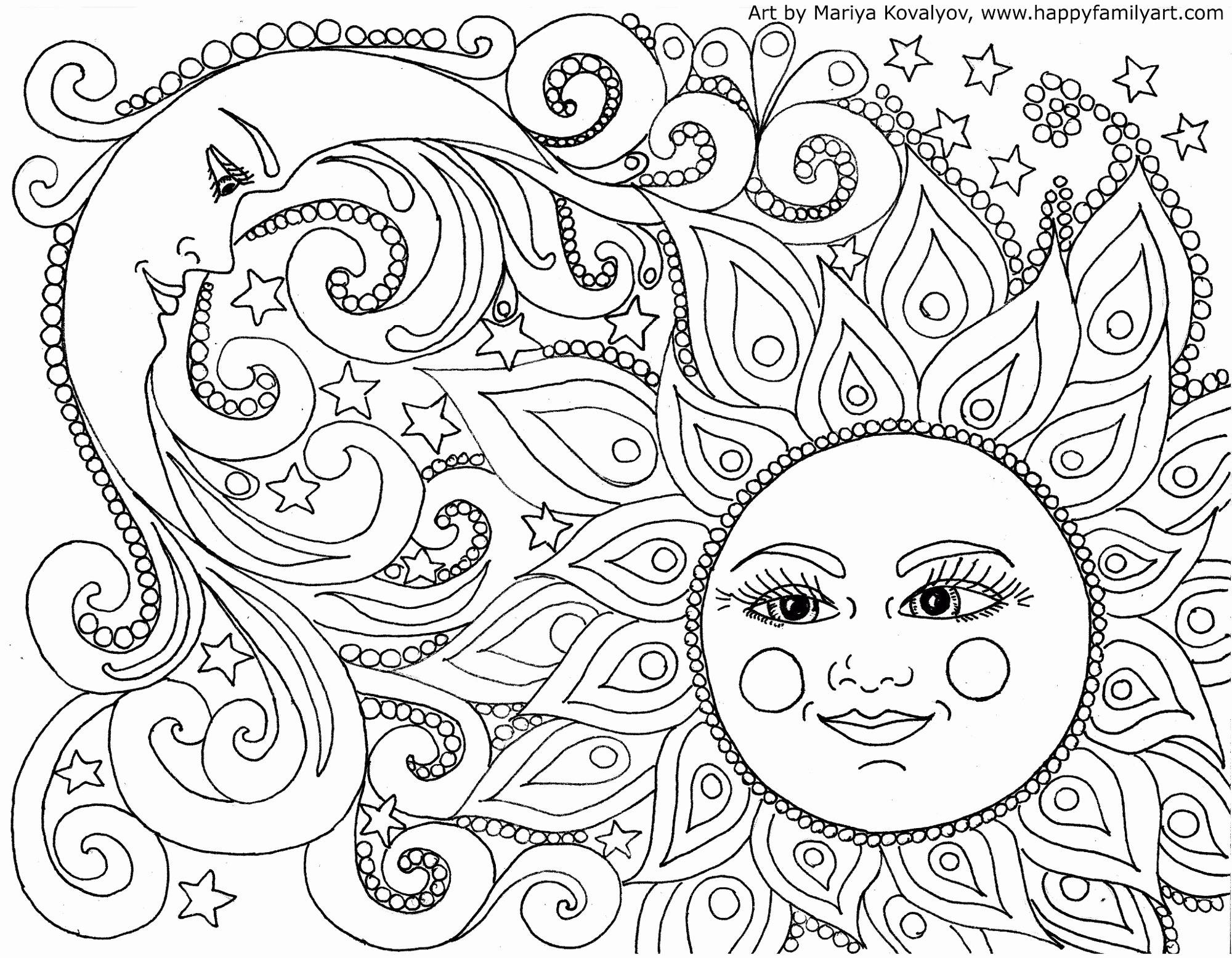 Coloring Pages : Mandala Sun And Moon Coloring Free dedans Mandala Fée