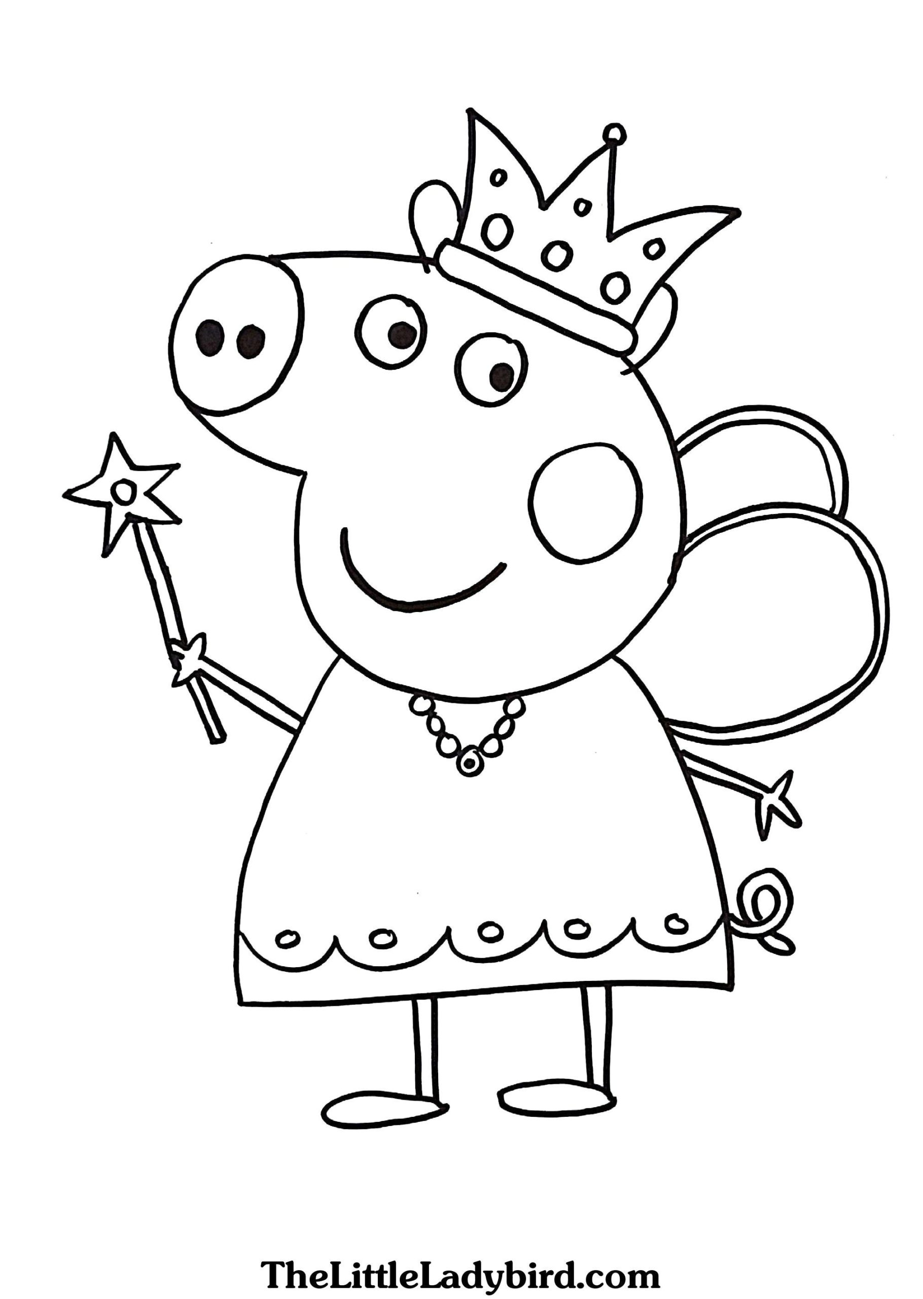 Coloring Pages : Marvelous Of Pig Coloring Peppa Hey Arnold à Peppa Pig A Colorier