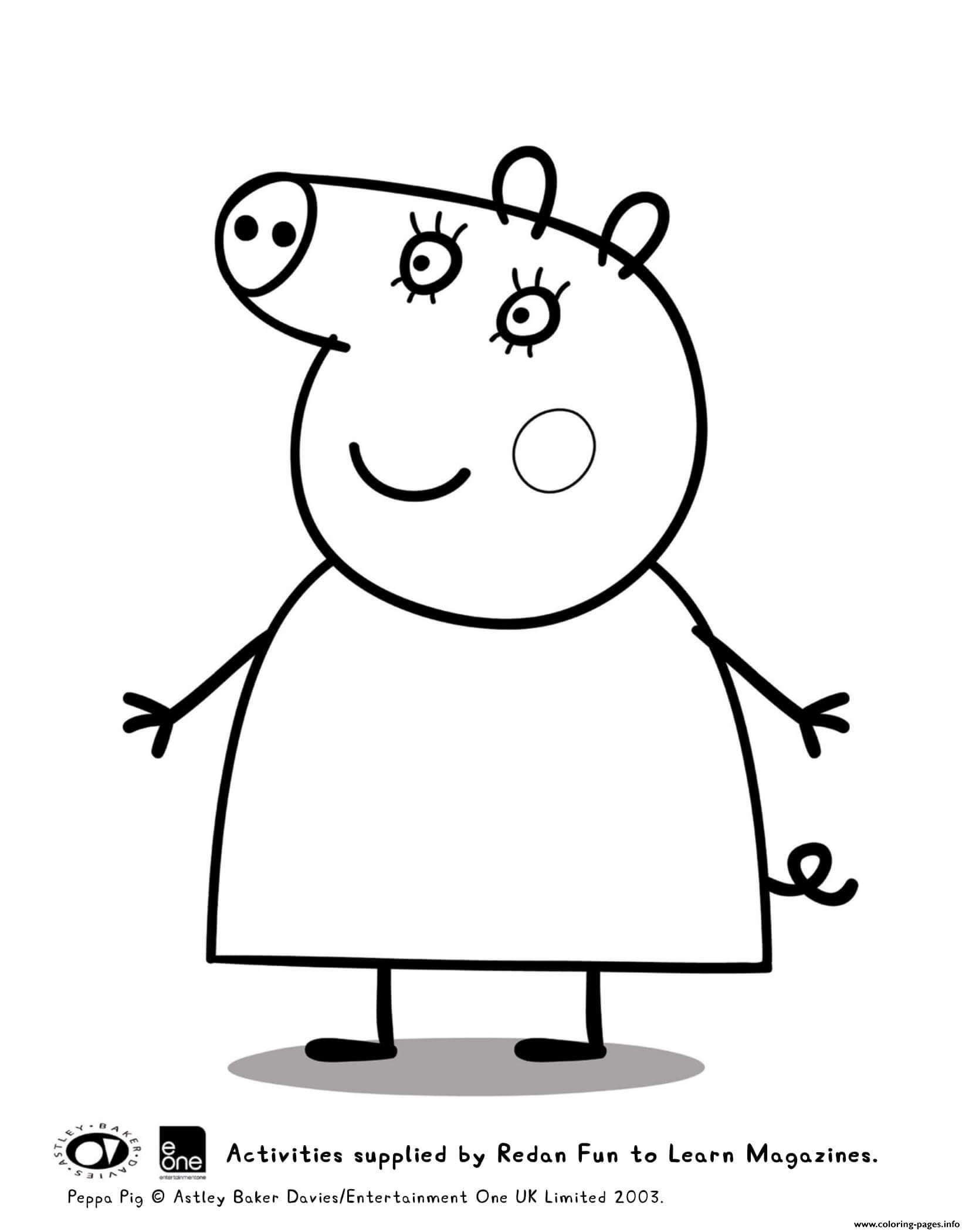 Coloring Pages : Mummy Peppa Pig Coloring Printable Pictures pour Peppa Pig A Colorier