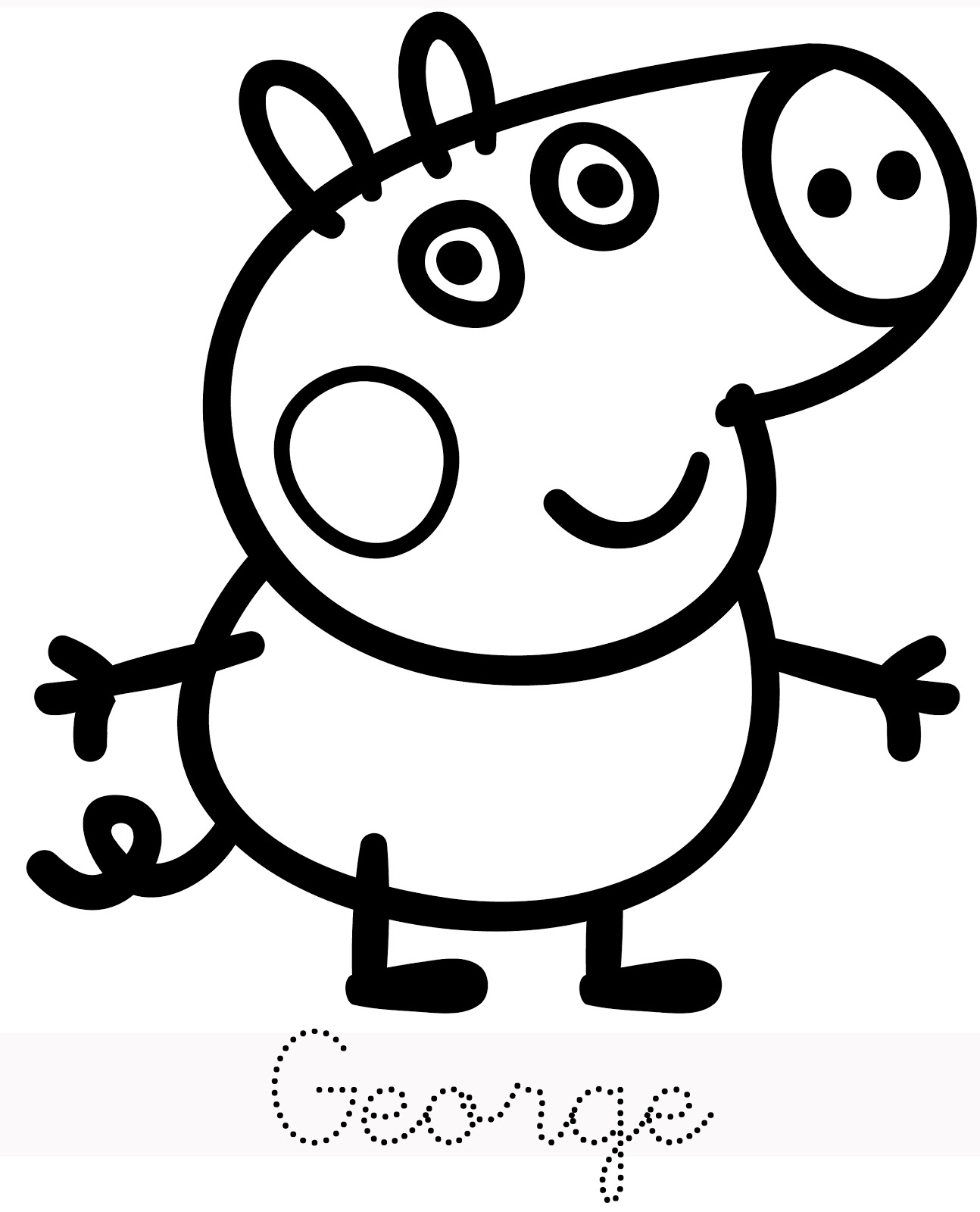 Coloring Pages : Peppa Pig Cartoons Printable Coloring intérieur Peppa Pig A Colorier