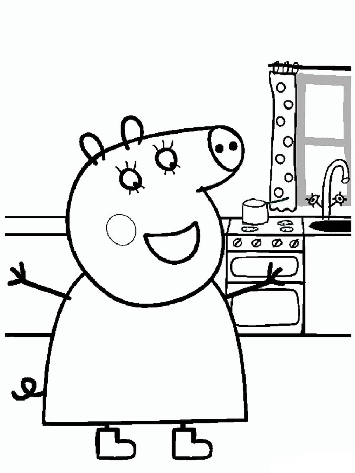Coloring Pages : Peppa Pig Coloring Her Family And Friends dedans Peppa Pig A Colorier