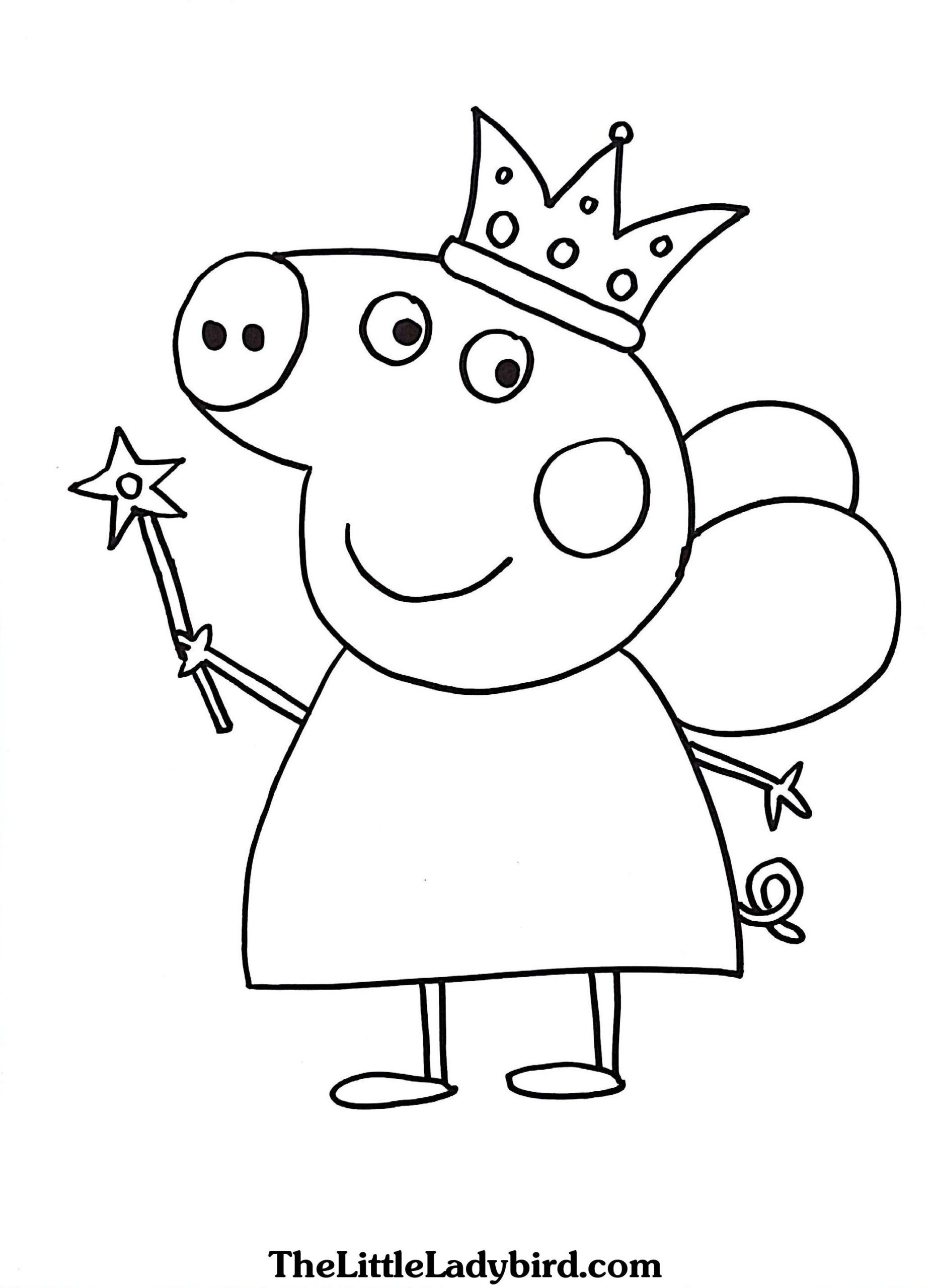 Coloring Pages : Peppa Pig Valentines Coloring From The pour Peppa Pig A Colorier