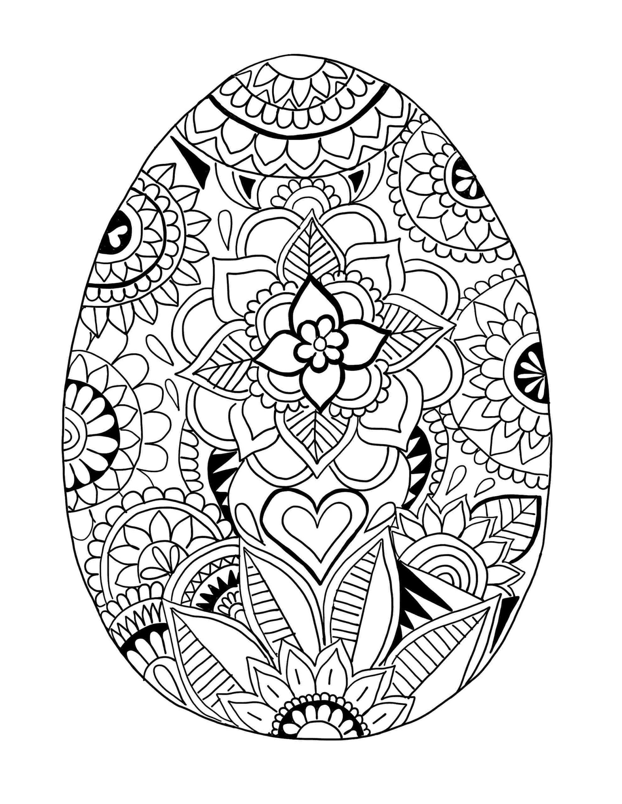 Coloring Pages : Printable Easter Mandala Coloring Free tout Mandala Fée