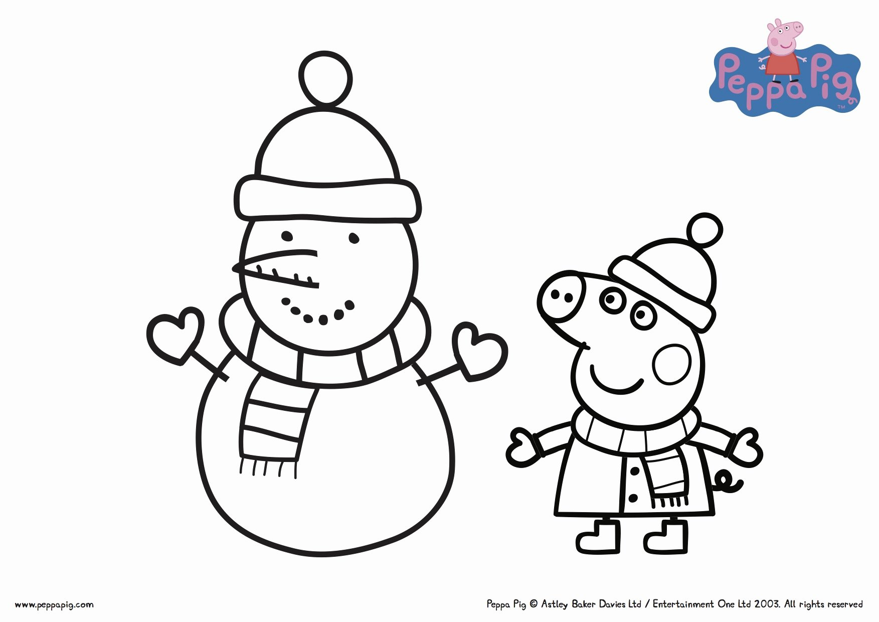 Coloring Pages : Printable Peppa Pig Coloring Fresh Pictures dedans Peppa Pig A Colorier