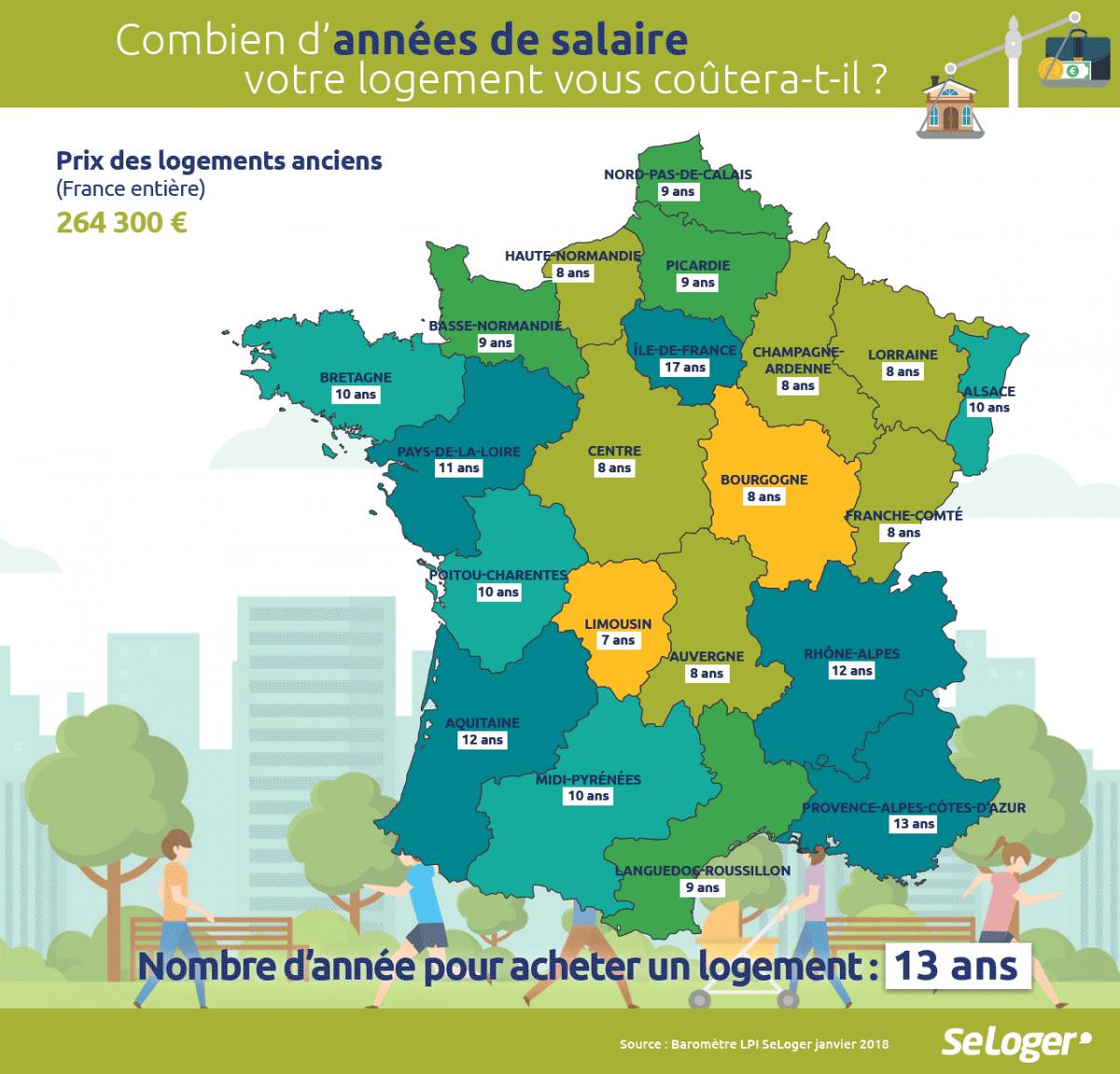 Combien D'années De Salaire Vous Faut-Il Pour Acheter Votre intérieur Combien De Region En France