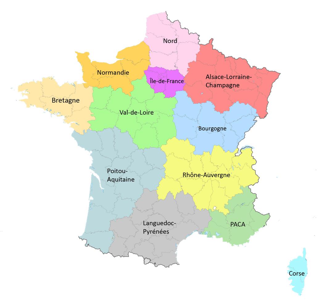 Combien De Régions En France? - 192805 destiné Combien De Region En France