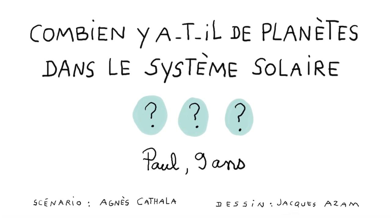 Combien Y A-T-Il De Planètes Dans Le Système Solaire ? On Vimeo encequiconcerne Dessin Du Système Solaire